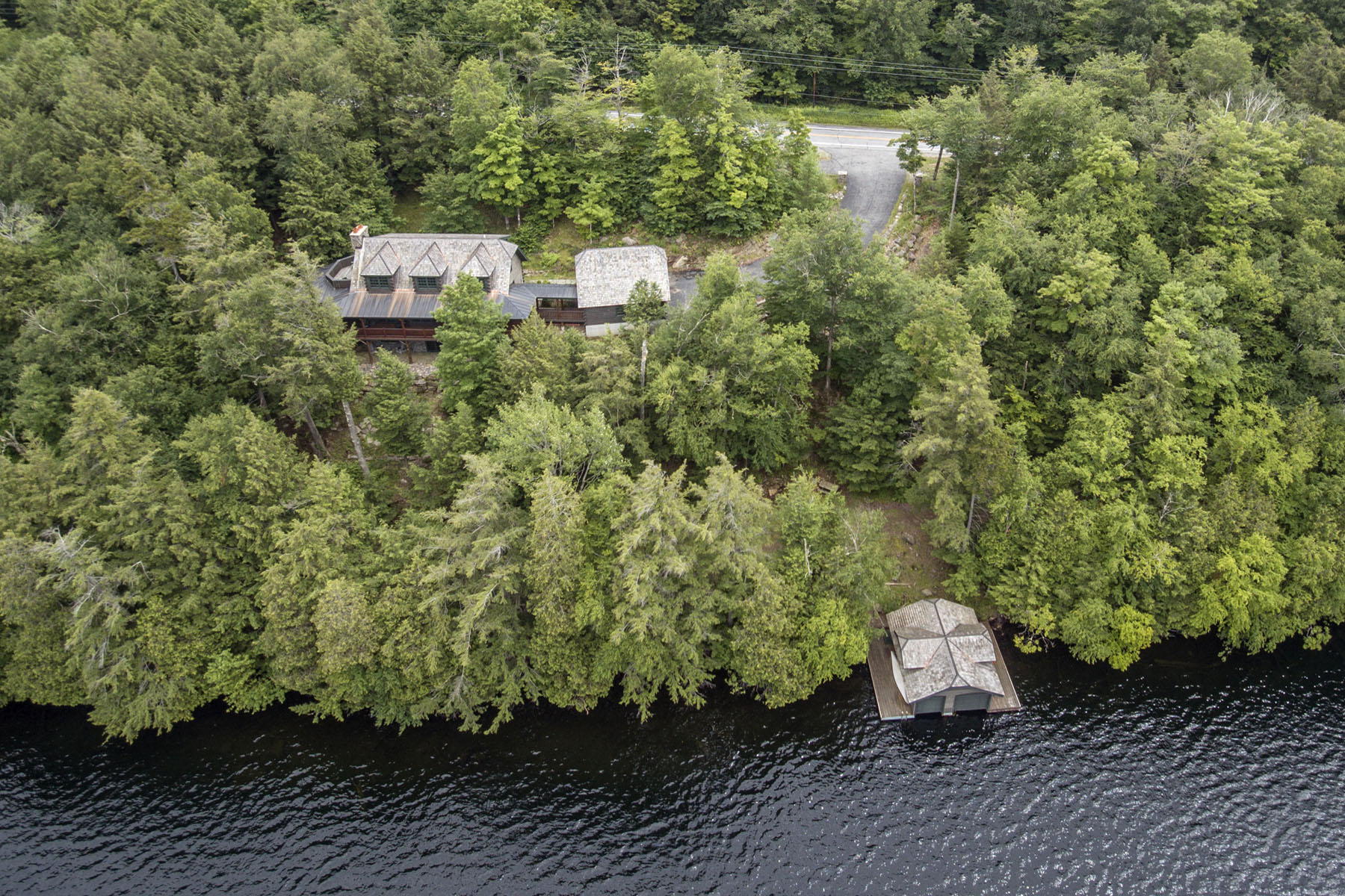 Additional photo for property listing at Great Camp Style with Stunning Views 3235 State Rt 28 Blue Mountain Lake, New York 12812 United States