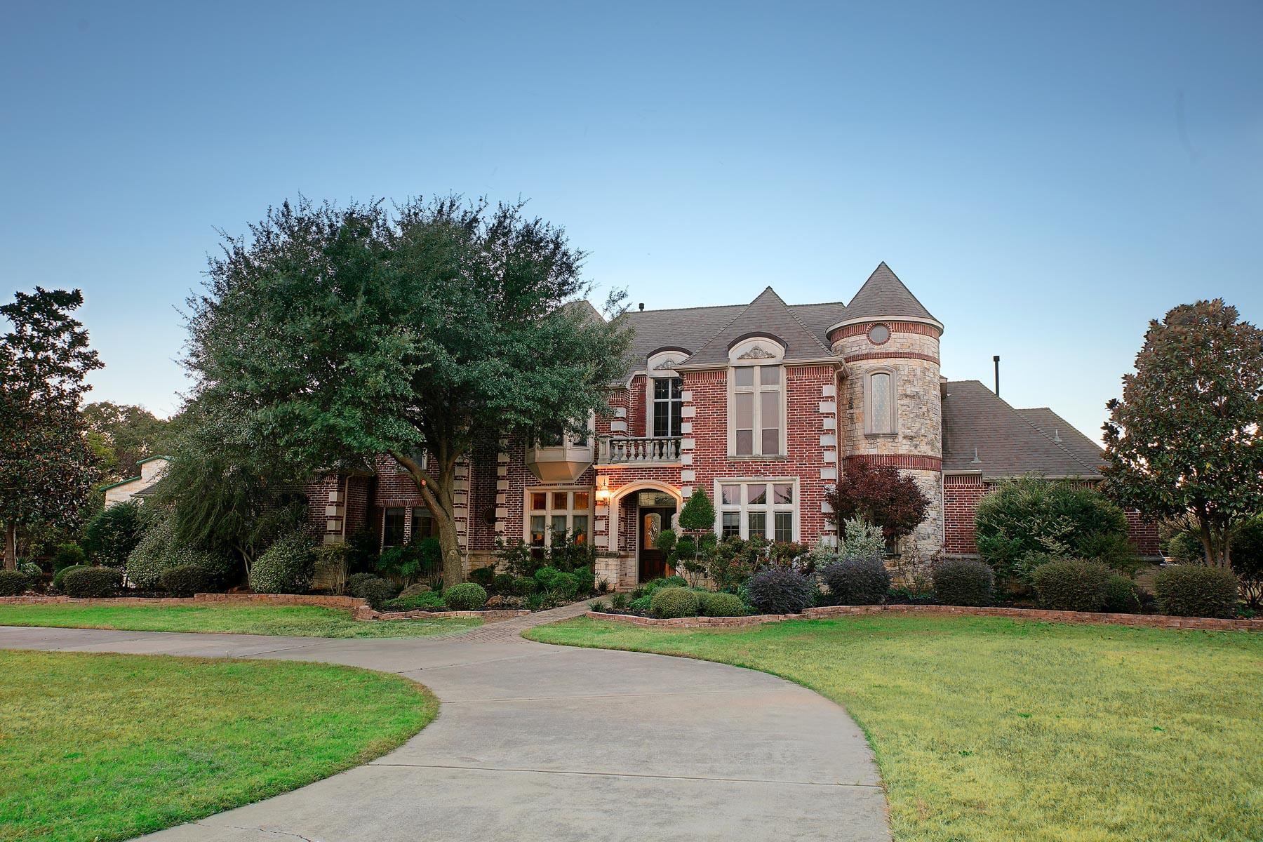 단독 가정 주택 용 매매 에 Colleyville Estate Home on 6 Acres 6808 Pleasant Run Road, Colleyville, 텍사스, 76034 미국