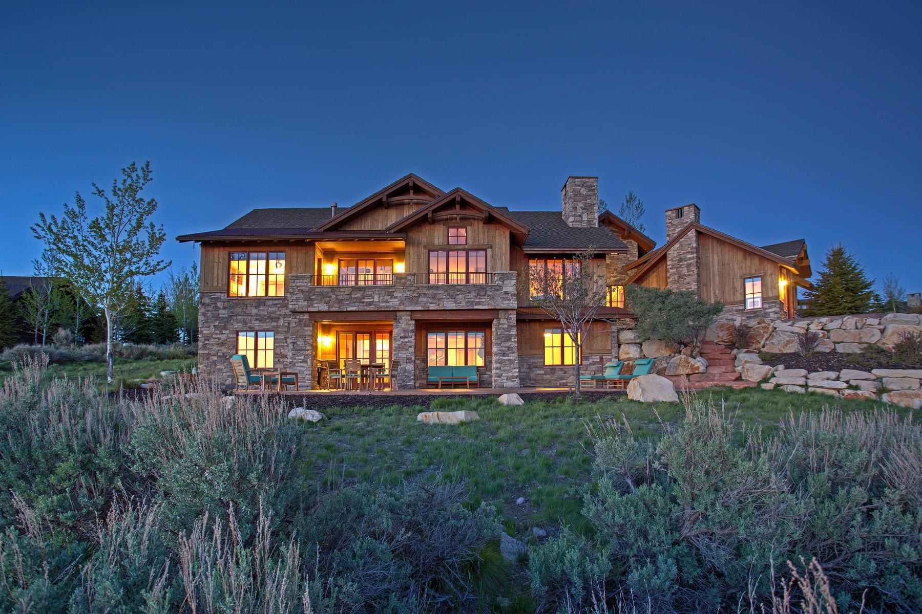 Maison unifamiliale pour l Vente à Million Dollar Park City Views 8030 West Hills Trail Park City, Utah, 84098 États-Unis