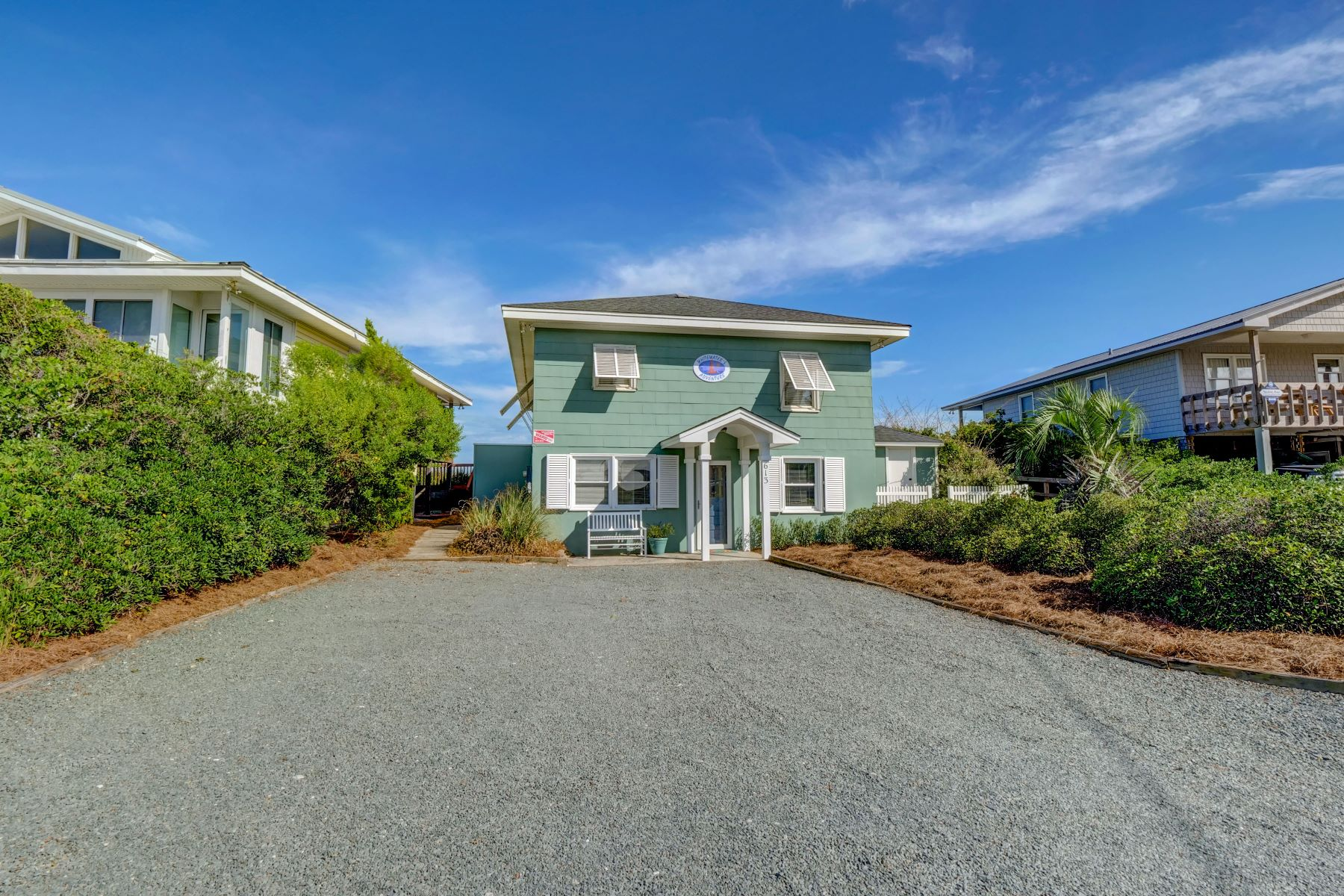 Single Family Homes for Sale at Unique Oceanfront Cottage with Sound Access 613 N Anderson Blvd Topsail Beach, North Carolina 28445 United States