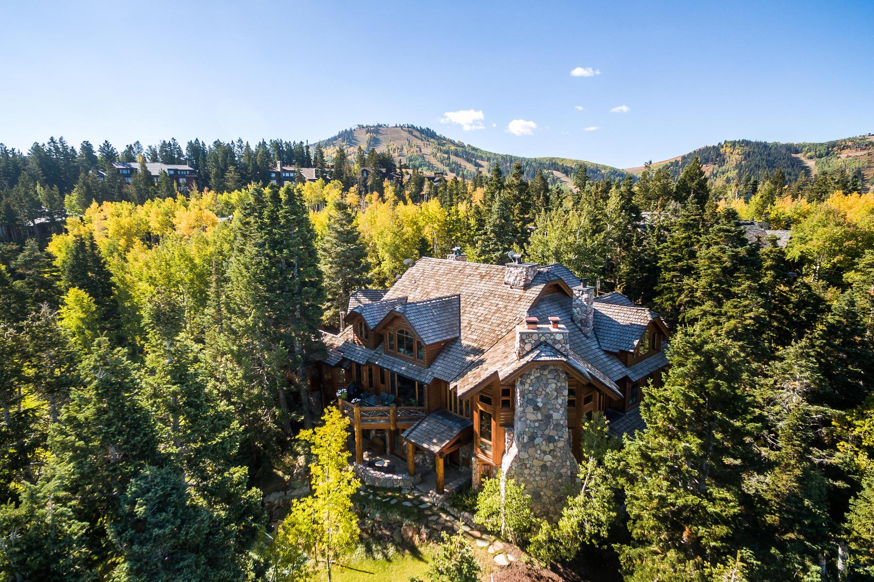 Single Family Homes för Försäljning vid Gated Ski Estate Located Slope-side at Deer Valley Resort 7885 Bald Eagle Dr, Park City, Utah 84060 Förenta staterna