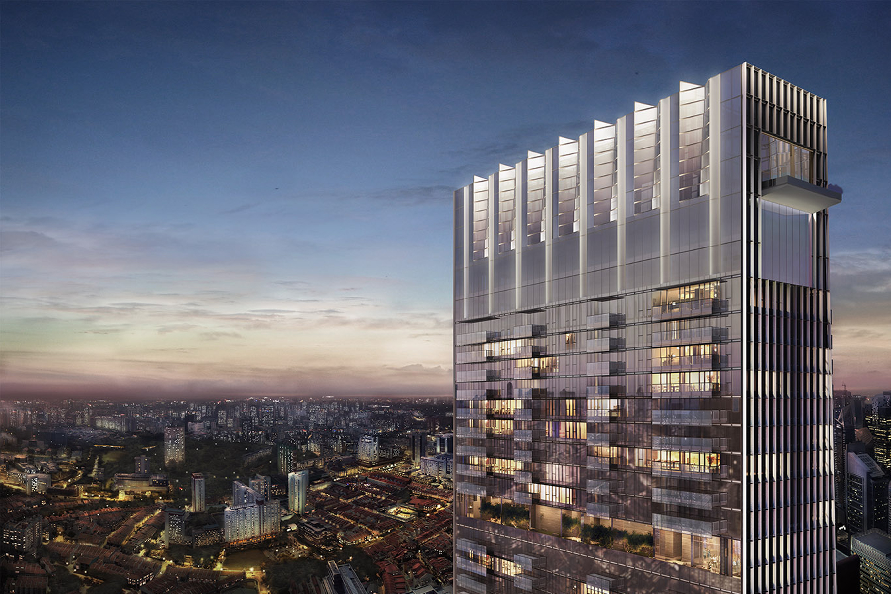 共管式独立产权公寓 为 销售 在 The Wallich Residence Super Penthouse 3 Wallich Street (Super Penthouse) Singapore, 078882 新加坡
