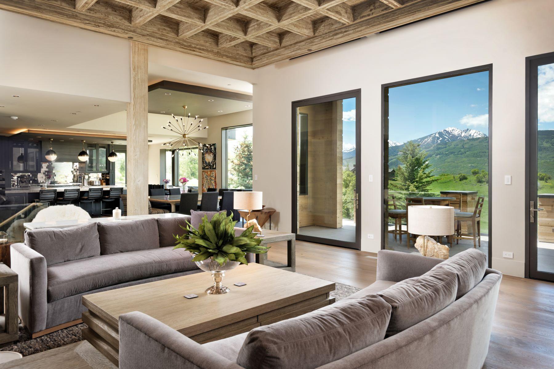 Single Family Homes por un Venta en Big views and Ultimate Privacy on Sunnyside Lane 386 Sunnyside Lane Aspen, Colorado 81611 Estados Unidos