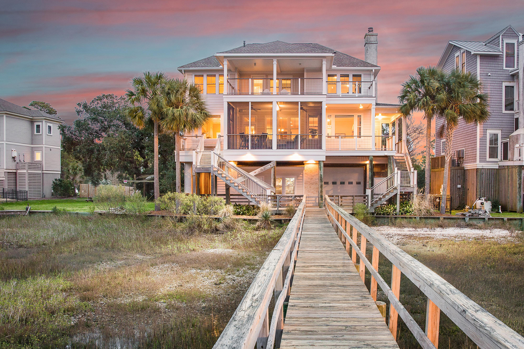 Single Family Homes for Sale at 11 Red Sunset Lane Folly Beach, South Carolina 29439 United States