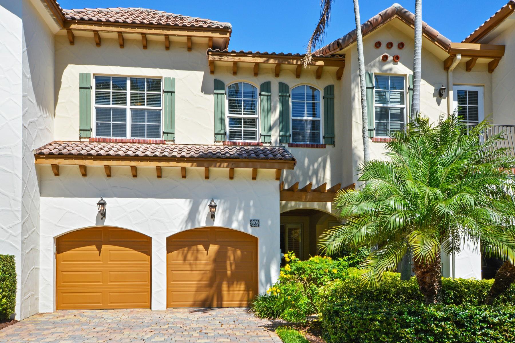 Maison en rangée pour l Vente à 803 Estuary Way , Delray Beach, FL 33483 803 Estuary Way Delray Beach, Florida, 33483 États-Unis