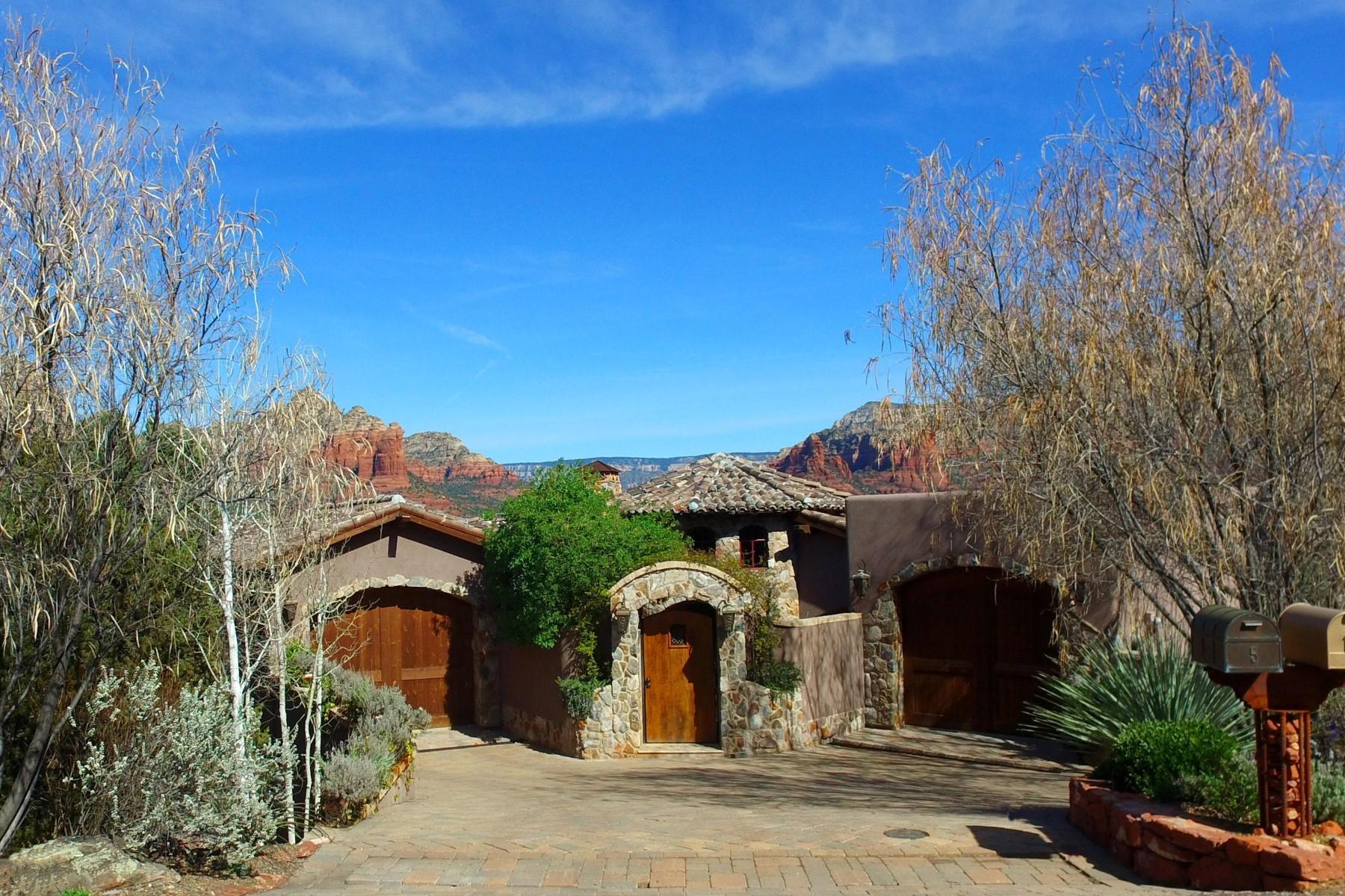独户住宅 为 销售 在 Italian Villa style Sedona home 5 Mingus Mountain Rd 塞多那市, 亚利桑那州 86336 美国