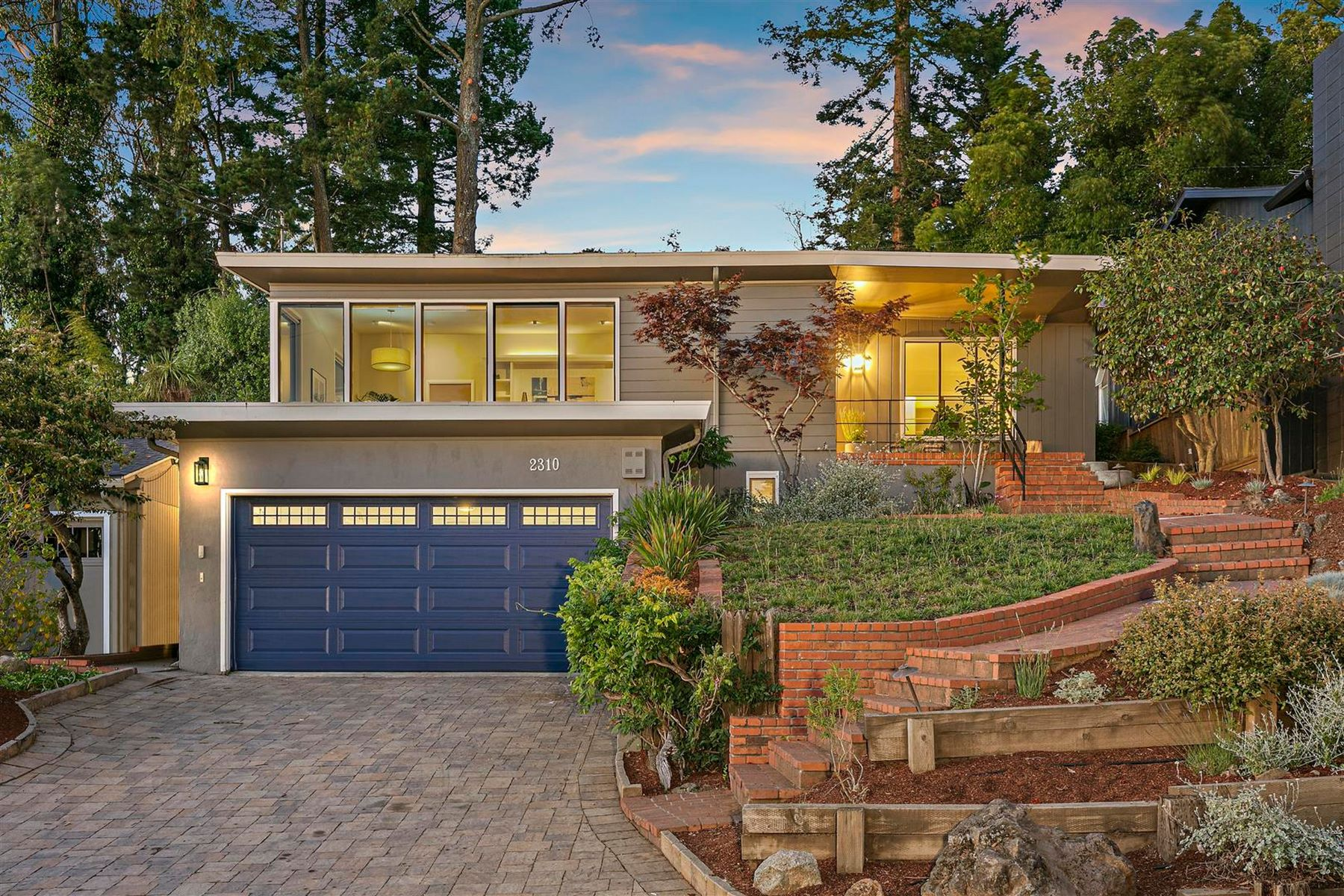 Single Family Homes for Sale at Mid-Century Home With Captivating Views 2310 Thackeray Drive Oakland, California 94611 United States