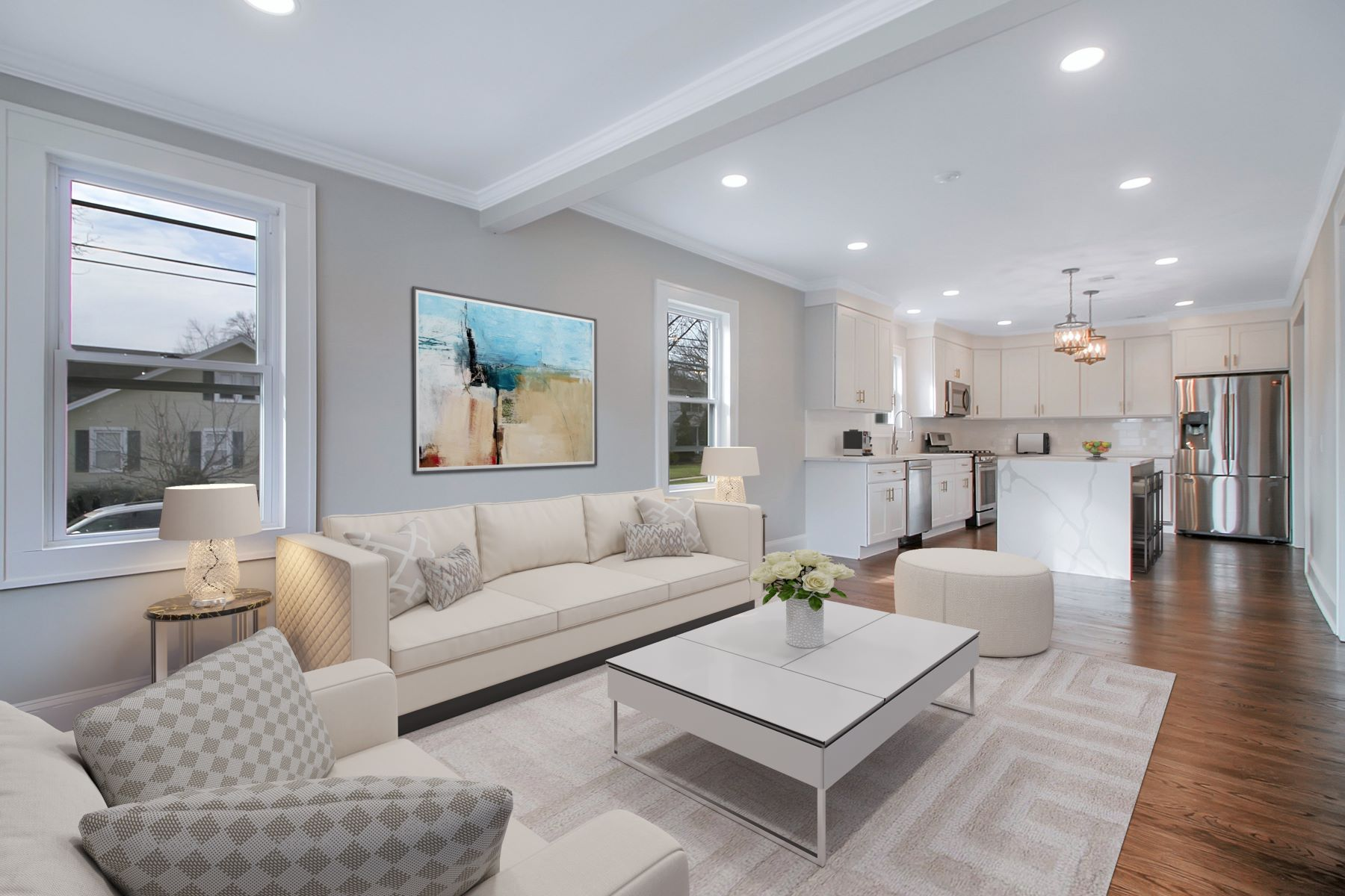 Single Family Homes for Sale at Beautifully Remodeled 124 Hillcrest Avenue Cranford, New Jersey 07016 United States