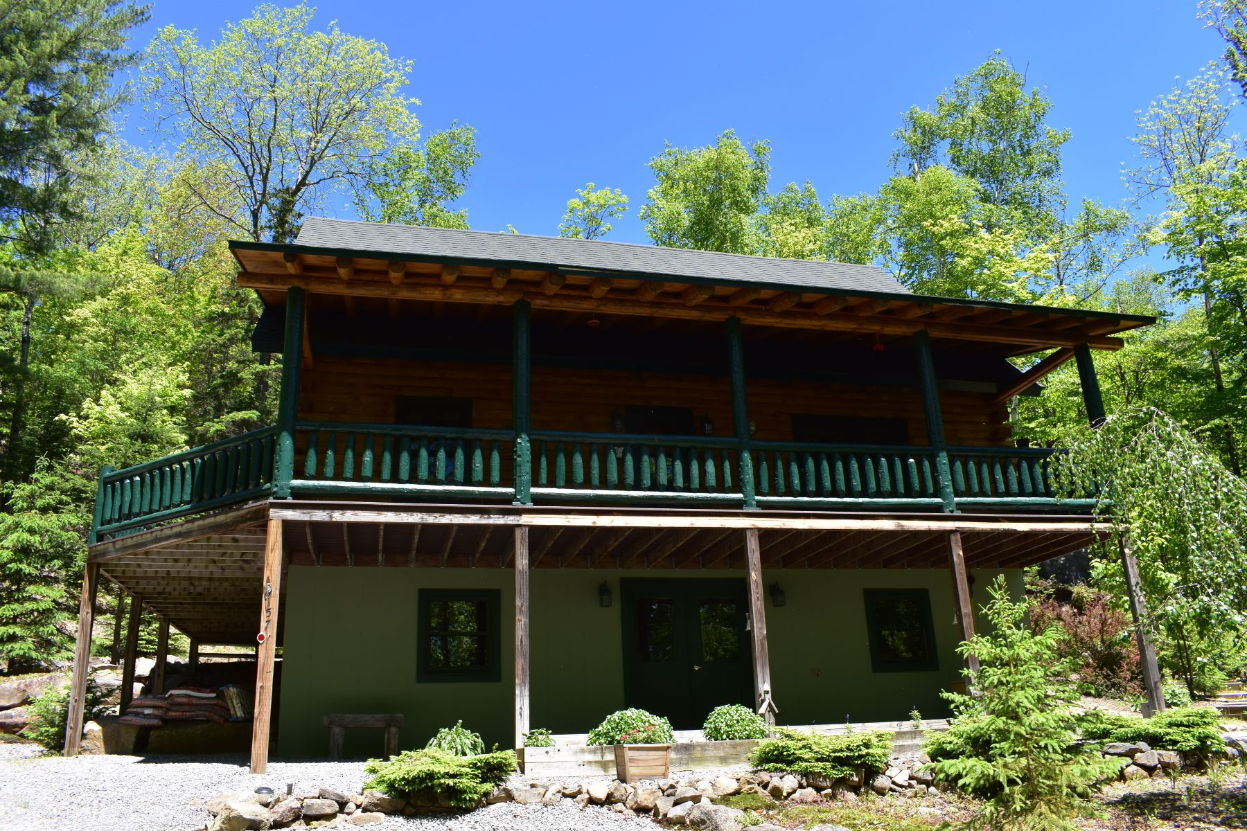 Single Family Homes for Sale at Log Cabin on Mountaintop 157 Mountaintop Dr Indian Lake, New York 12842 United States