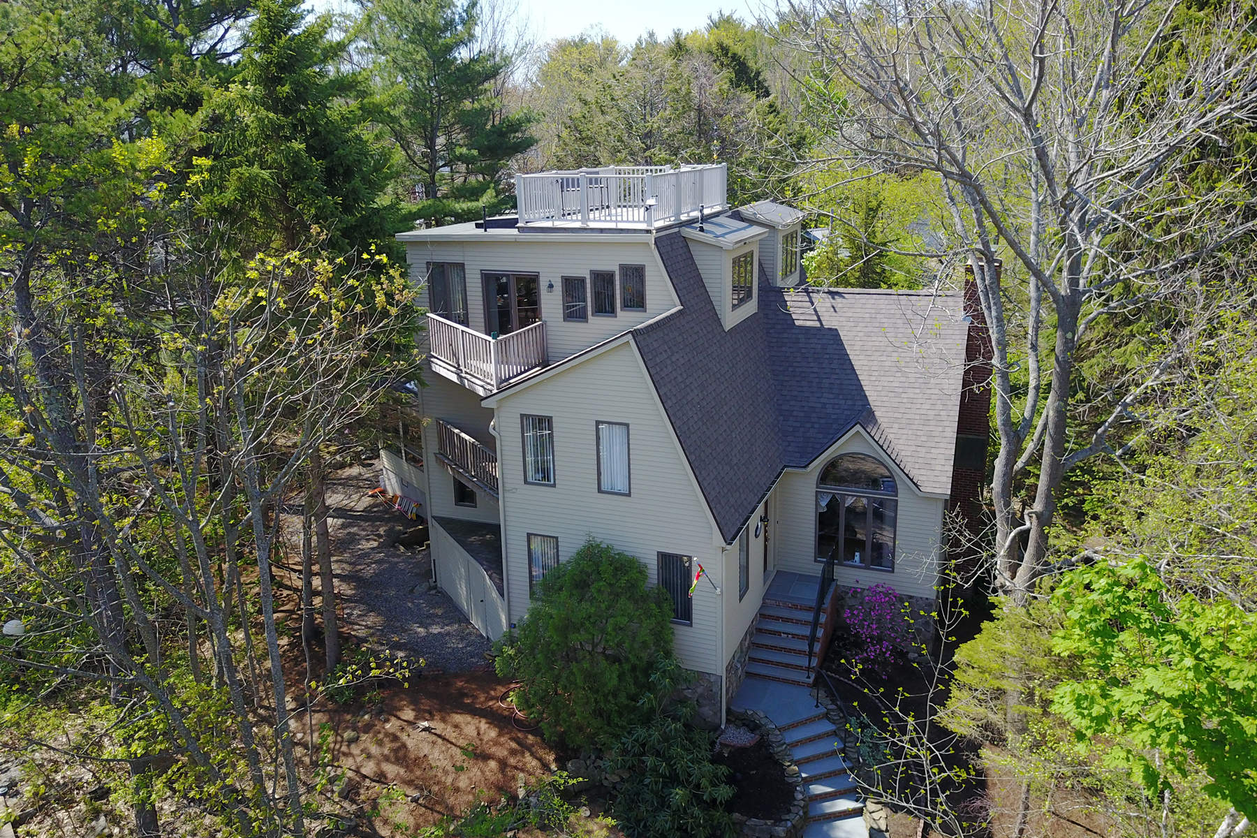 Single Family Home for Sale at Unique Contemporary Steps from Perkins Cove 87 Pine Hill Road South Ogunquit, Maine, 03097 United States