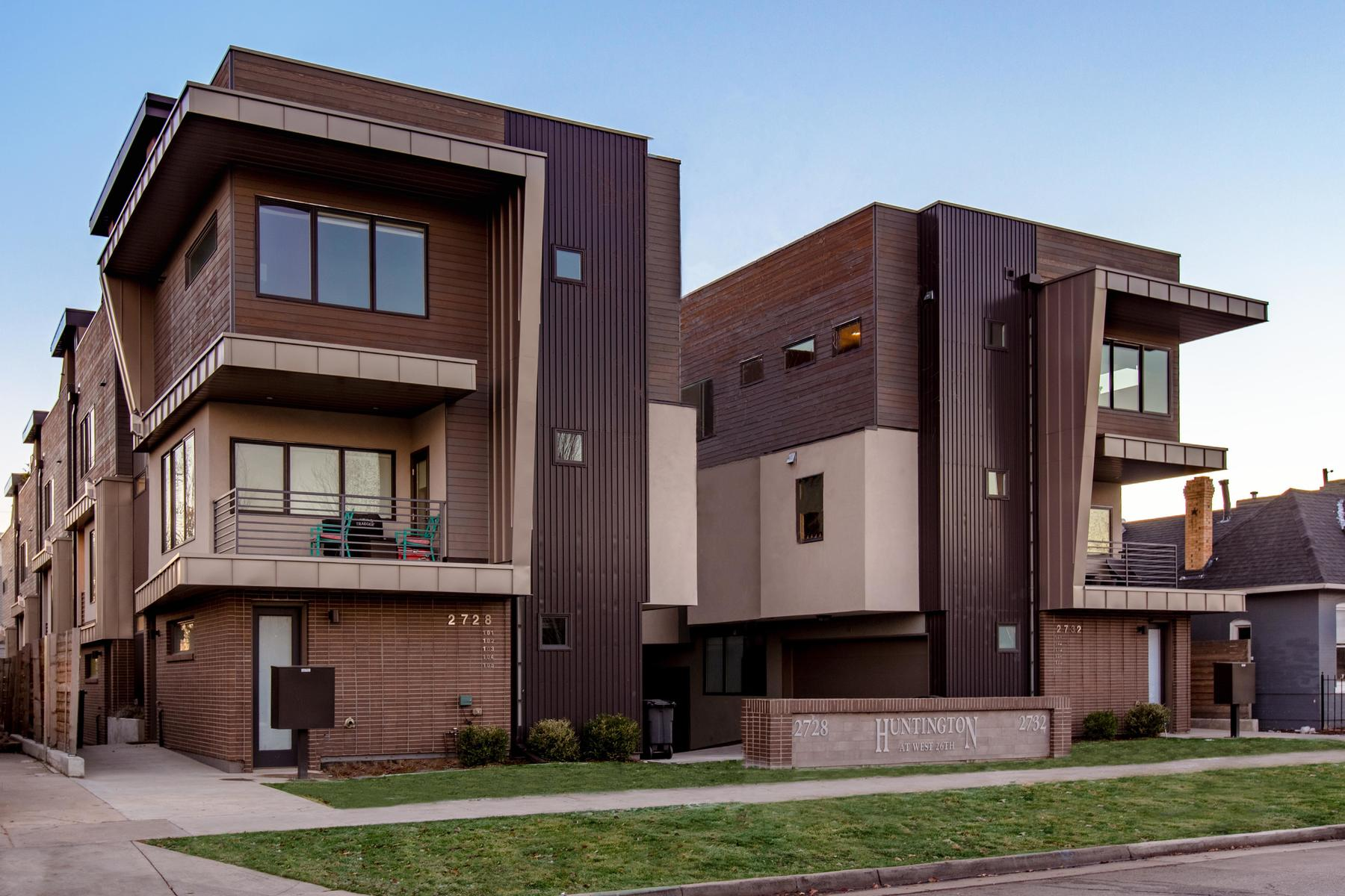 Townhouse for Active at This is the upscale Jefferson Park townhome you've been awaiting 2728 W 26th Ave #102 Denver, Colorado 80211 United States
