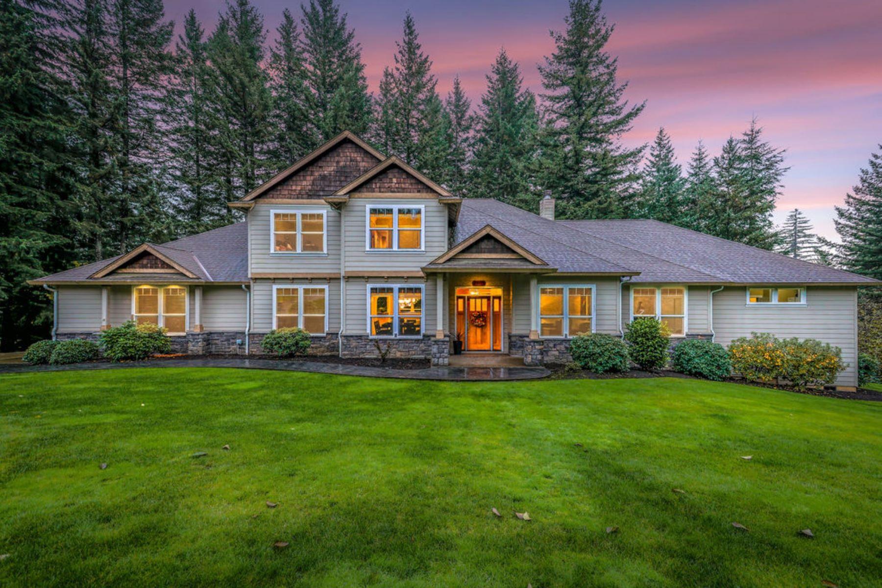 Single Family Homes for Sale at Beautiful 2-Story Custom Craftsman 29419 64th Way Camas, Washington 98607 United States