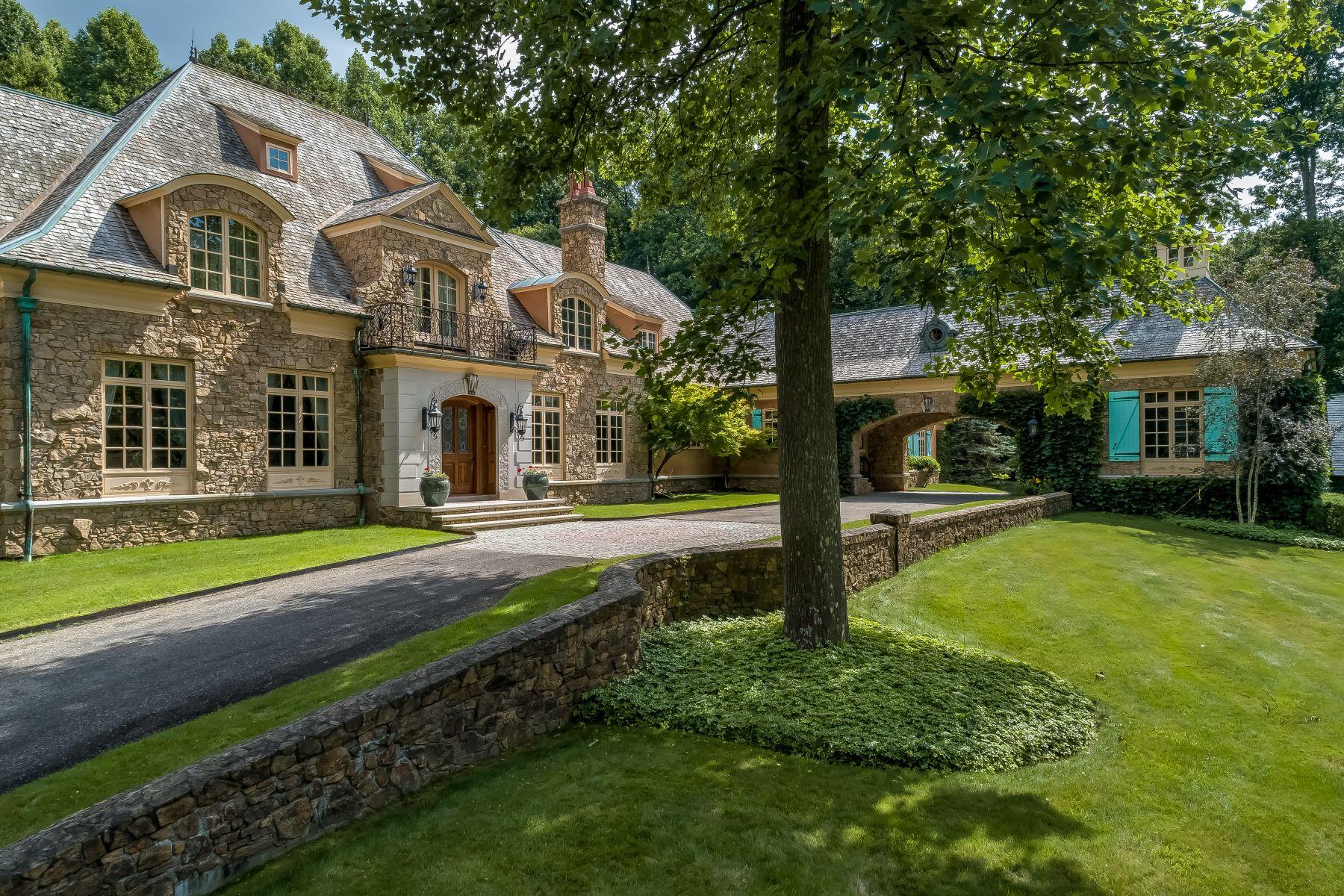Частный односемейный дом для того Продажа на French Country Masterpiece 8 Chapel Lane, Mendham Borough, Нью-Джерси 07945 Соединенные Штаты