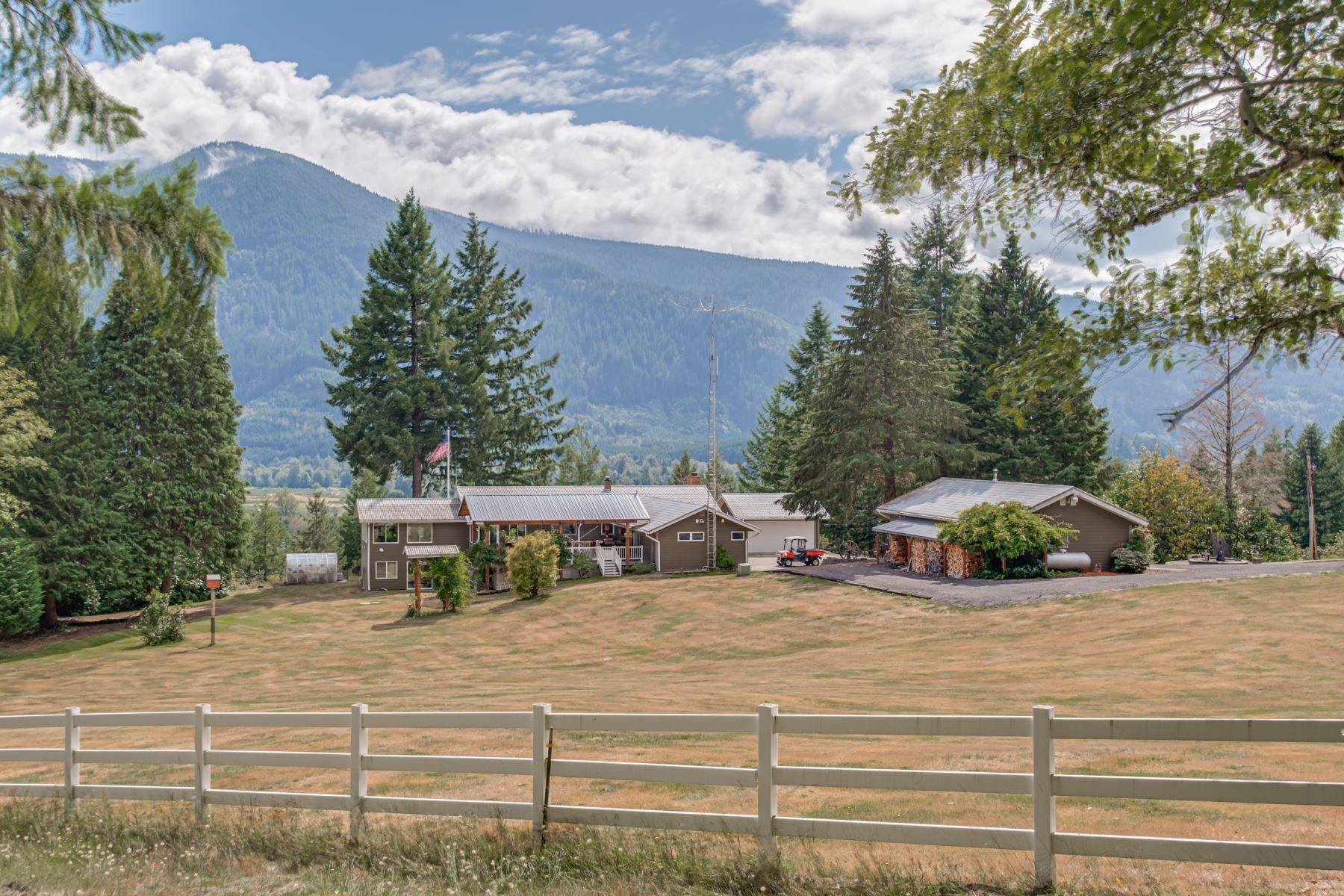 Single Family Homes por un Venta en Gorgeous Mountain Home on 76 Acres! 321 Davis Creek Road Randle, Washington 98377 Estados Unidos