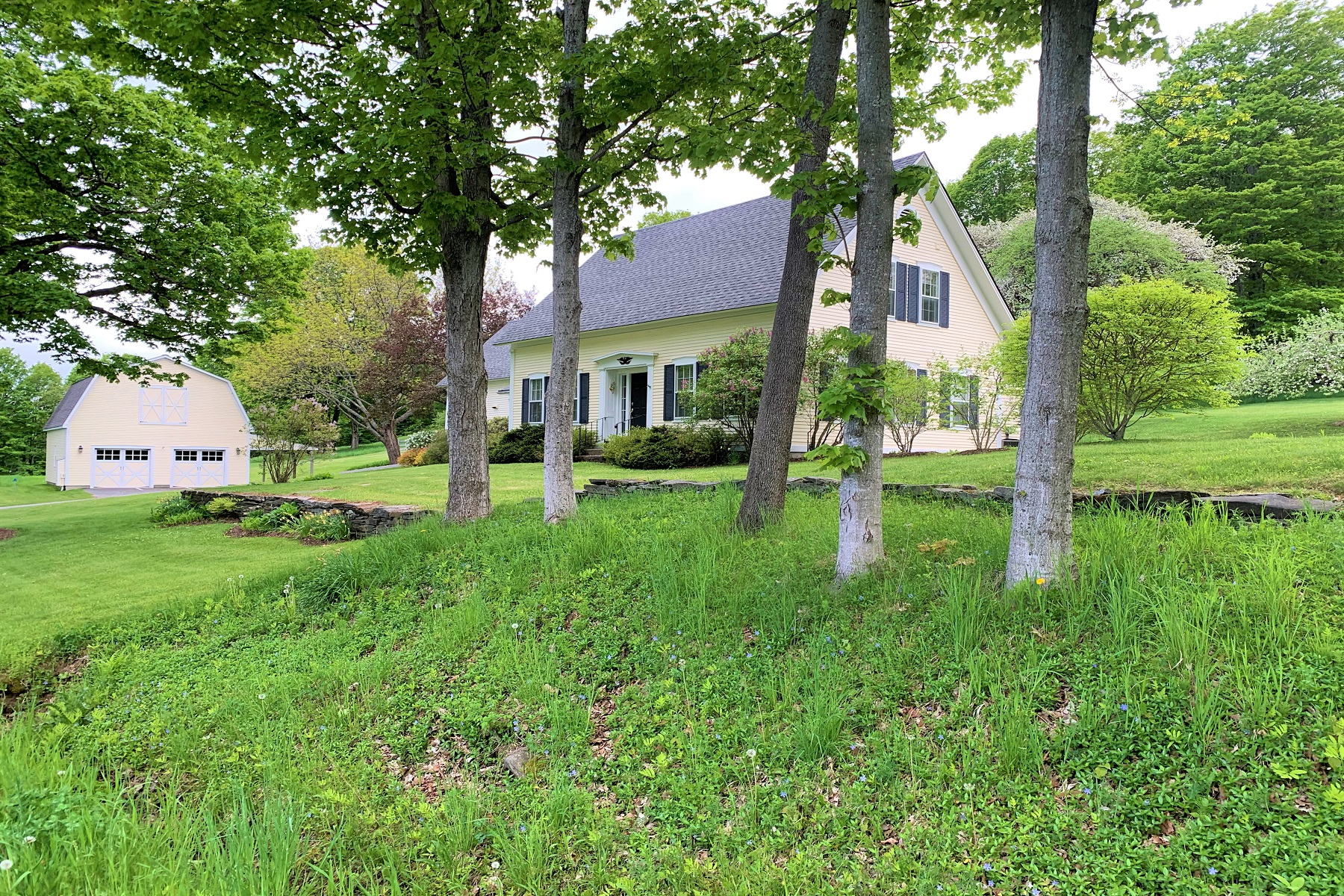 Single Family Homes for Sale at 1861 Historic Post & Beam Cape-Style Farmhouse 1073 Bible Hill Road West Windsor, Vermont 05037 United States
