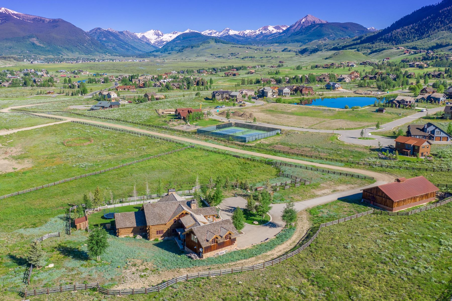 Single Family Homes for Sale at Red Feather Ranch 340 Wright Ranch Road Crested Butte, Colorado 81224 United States