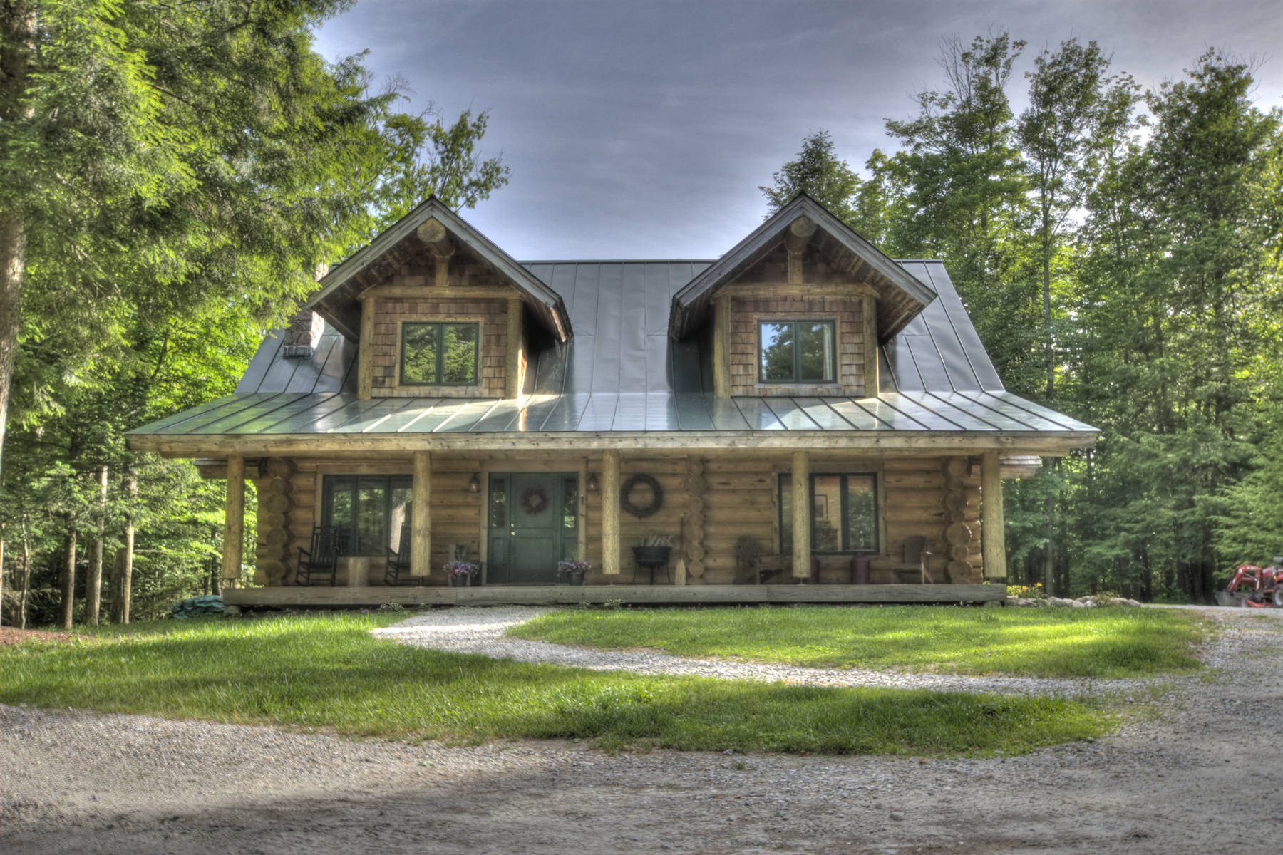 single family homes for Sale at Custom Built Log Home on 8+ Private Acres 7 Beebe Hill Rd Chittenden, Vermont 05737 United States