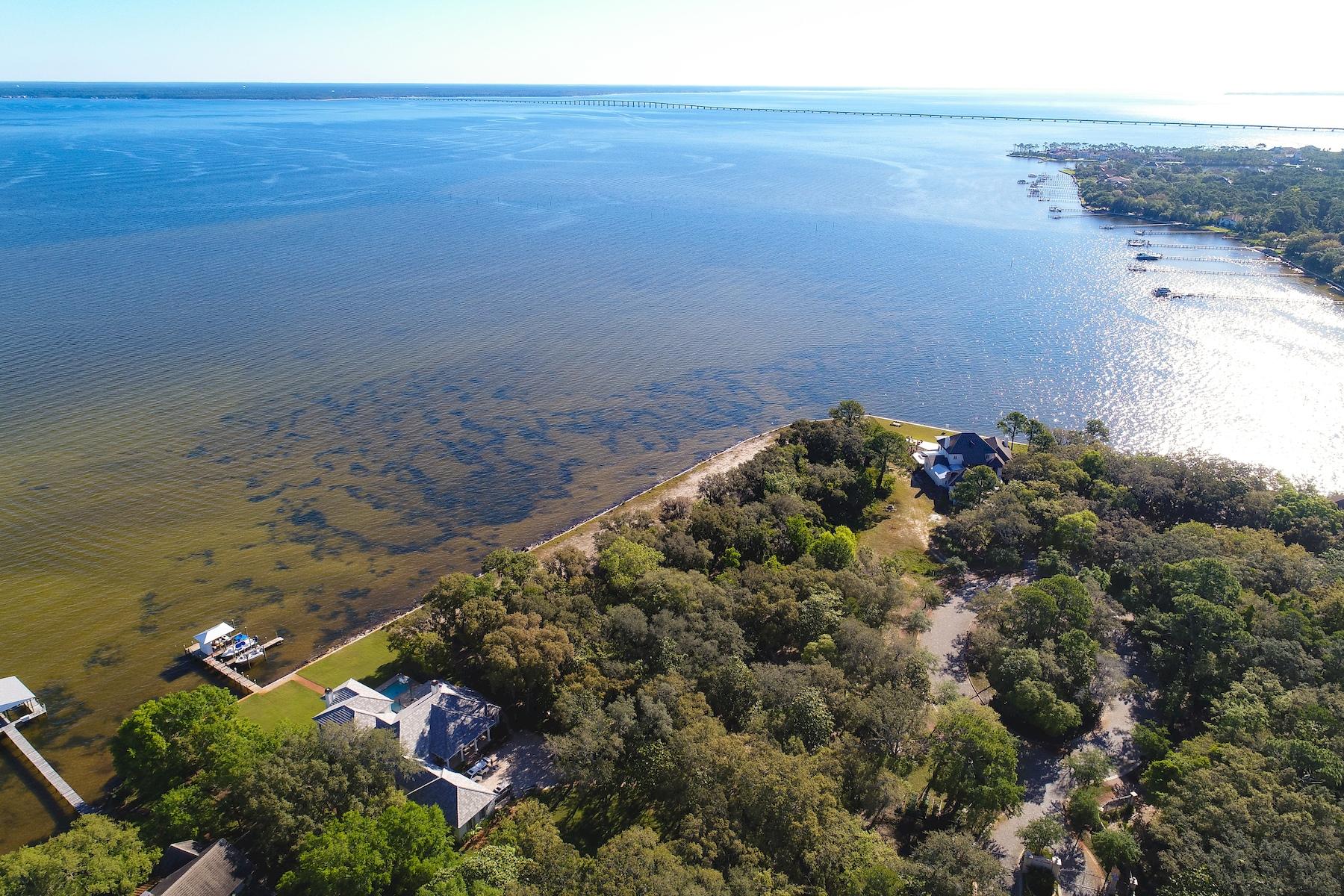 토지 용 매매 에 Double Lot on 229 Feet of Choctawhatchee Bay 4144-4148 Belcourt Drive, Destin, 플로리다, 32541 미국