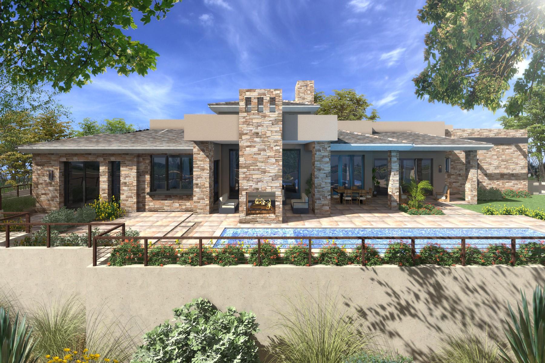 단독 가정 주택 용 매매 에 New Transitional Desert contemporary Custom Home 33144 N NORTHSTAR CIR, Scottsdale, 아리조나, 85266 미국
