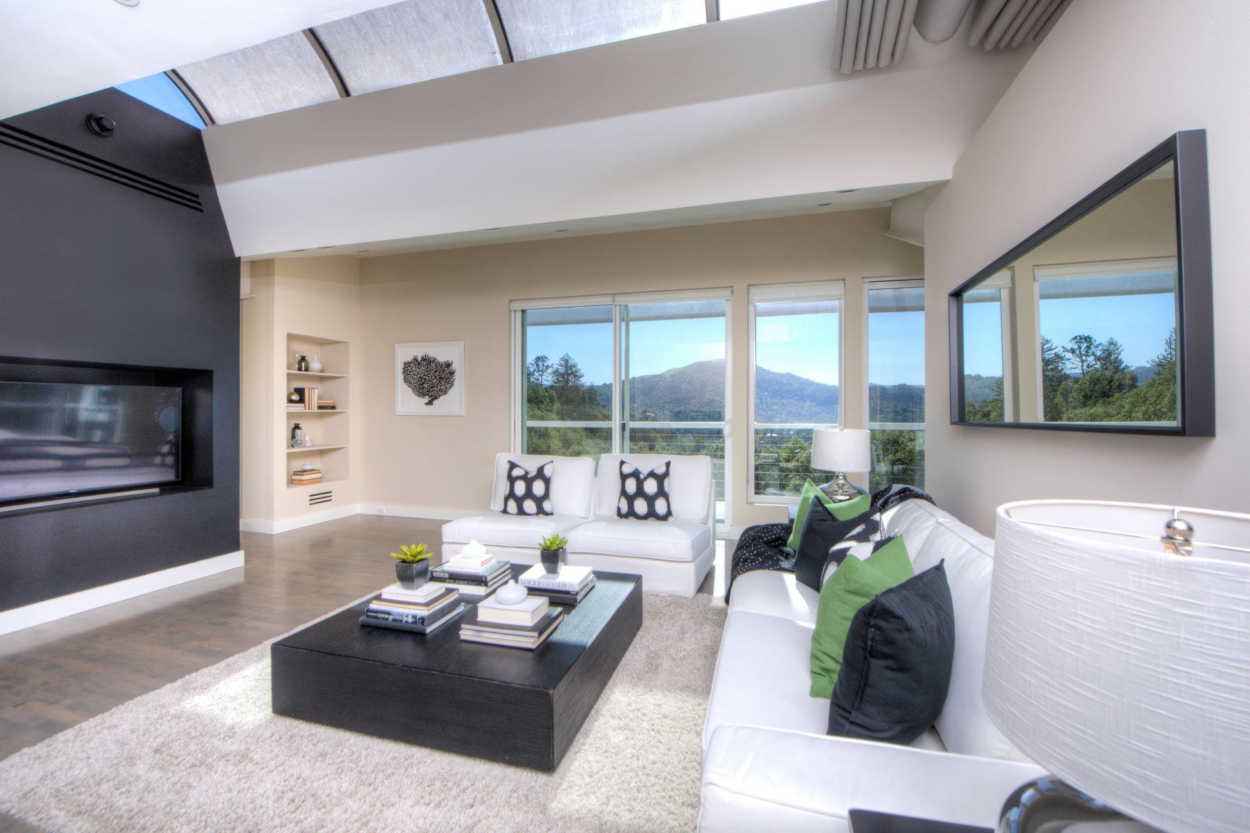 단독 가정 주택 용 매매 에 Sleek Modern Winship Park View Home 72 Baywood Avenue Ross, 캘리포니아, 94957 미국