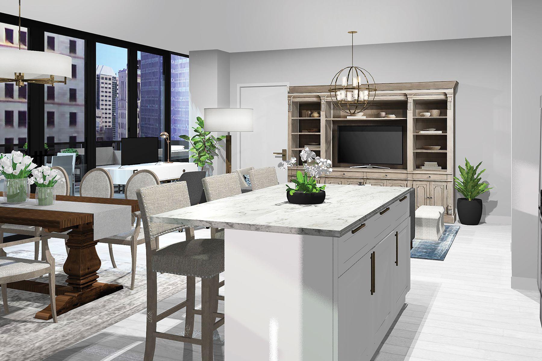 共管式独立产权公寓 为 销售 在 The Aurora Residence at Lumiére 350 Oliver Avenue #1002, Downtown Pittsburgh, Pittsburgh, 宾夕法尼亚州, 15222 美国