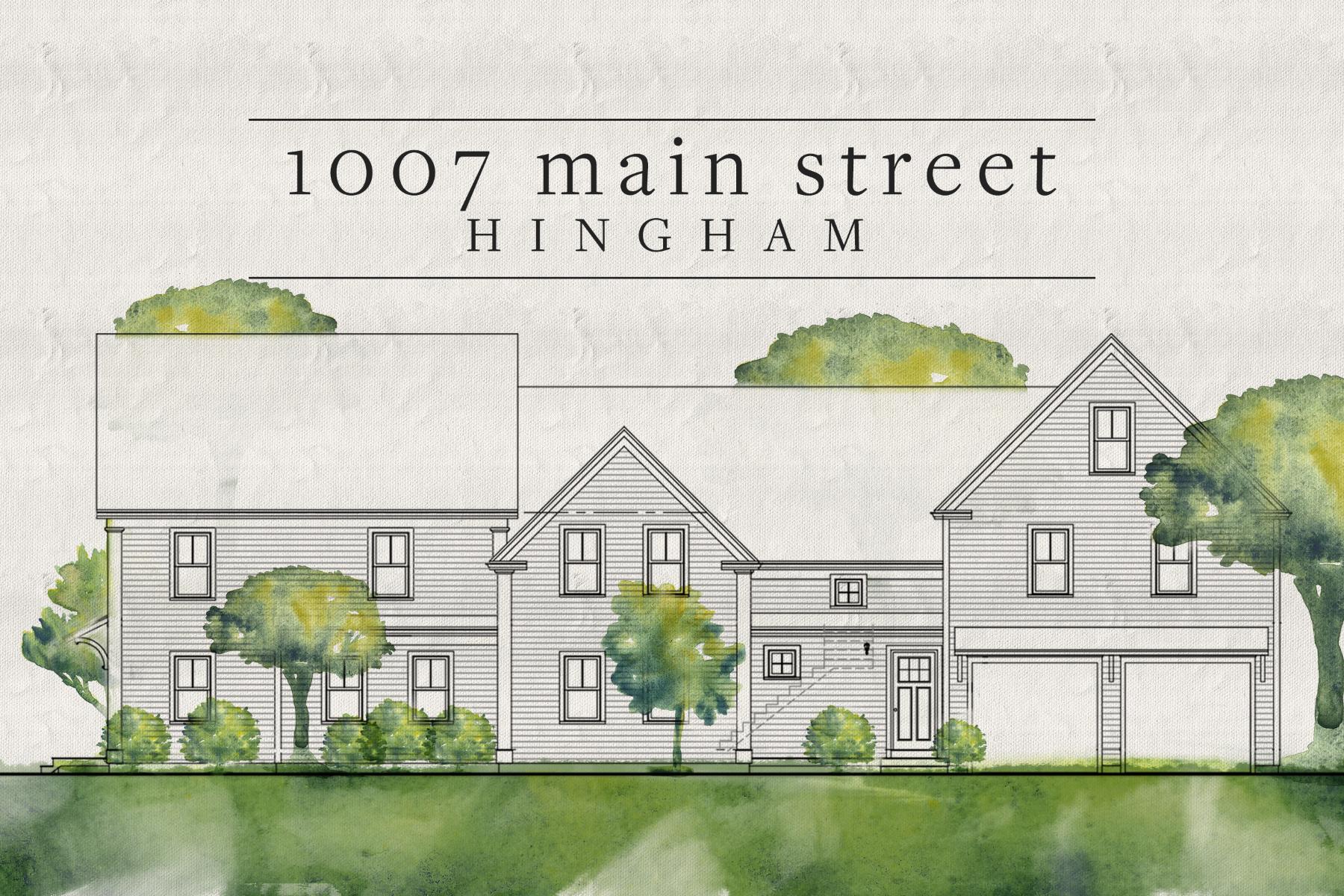 Single Family Homes pour l Vente à 1007 Main Street Hingham, Massachusetts 02043 États-Unis