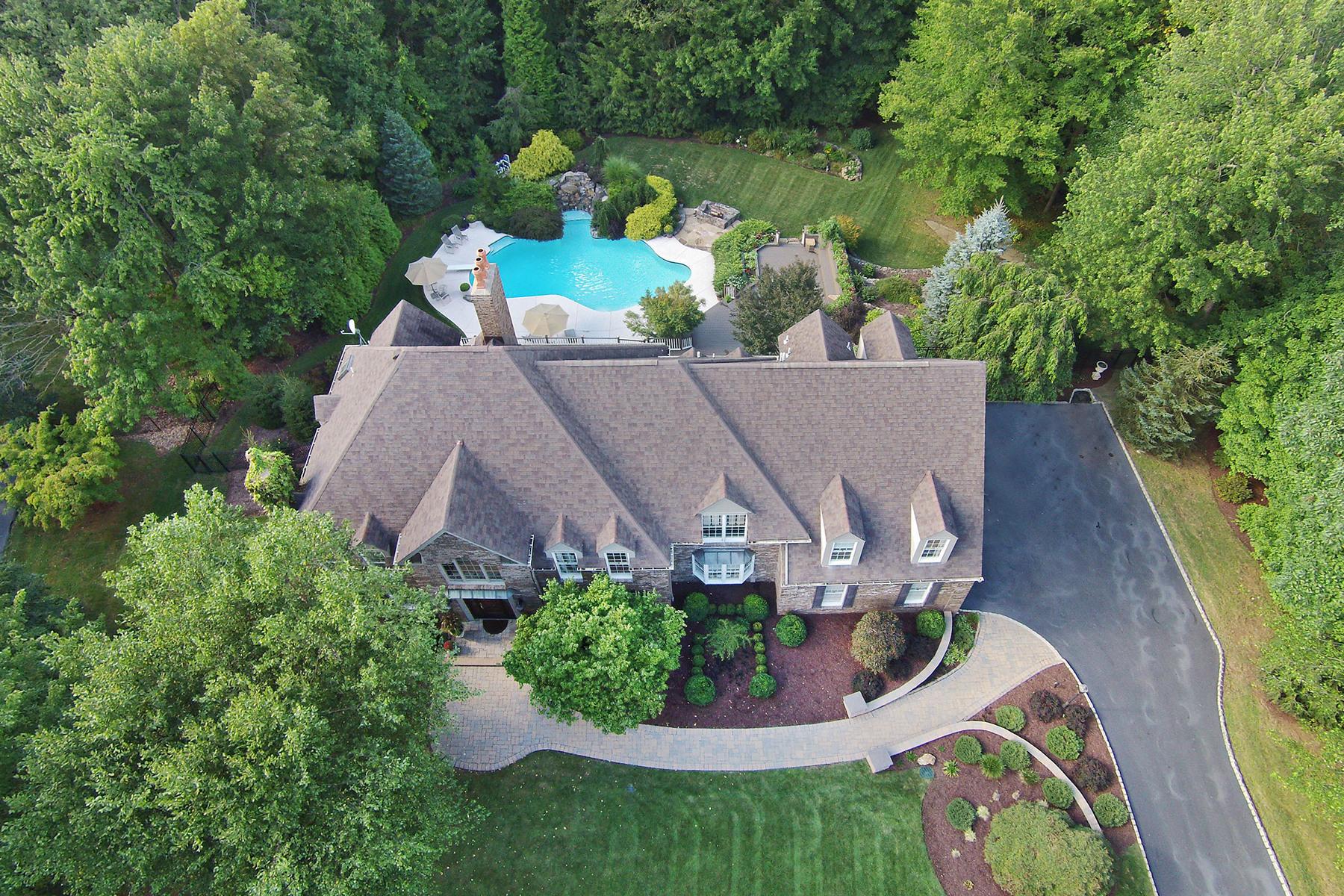 Eensgezinswoning voor Verkoop op Stunning Colonial 27 Old Farmstead Road, Chester Township, New Jersey 07930 Verenigde Staten