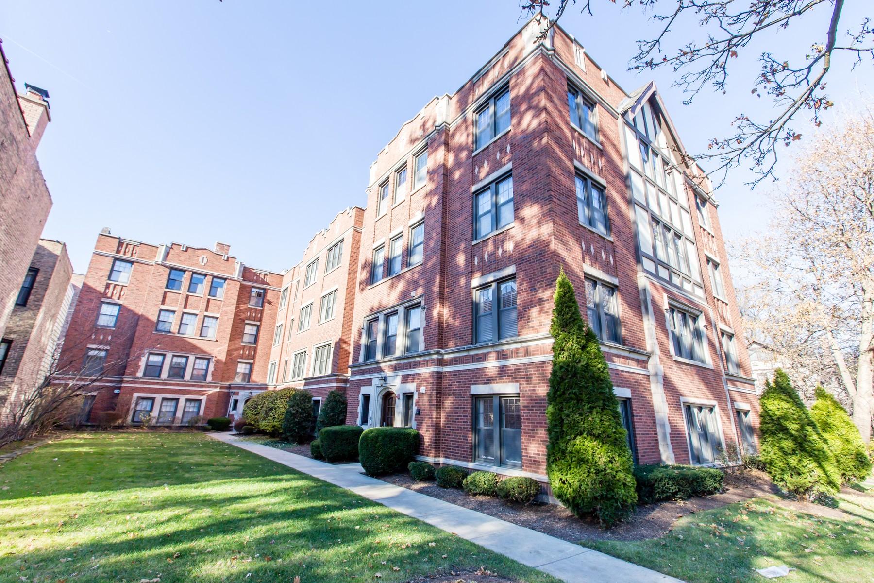 コンドミニアム のために 売買 アット Open and Bright Condo 2316 Sherman Avenue Unit 1B, Evanston, イリノイ, 60201 アメリカ合衆国