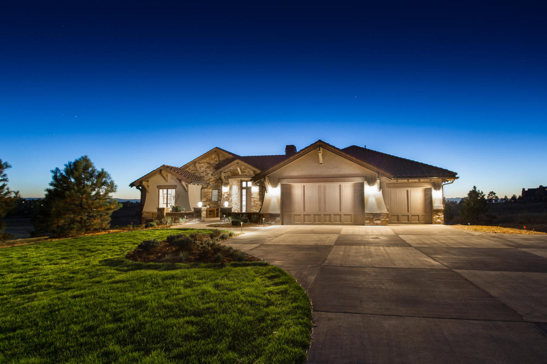 Casa Unifamiliar por un Venta en Buy a model home at Colorado Golf Club 7221 Prairie Star Ct, Colorado Golf Club, Parker, Colorado, 80134 Estados Unidos