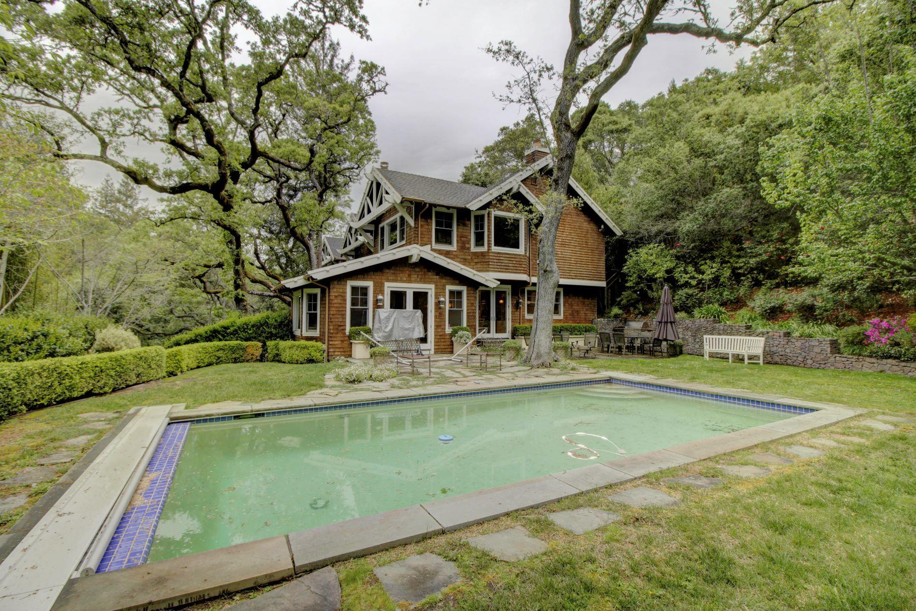 獨棟家庭住宅 為 出售 在 Jim Kelly Built Craftsman in the Flats of Kent Woodlands 45 Evergreen Drive Kentfield, 加利福尼亞州 94904 美國