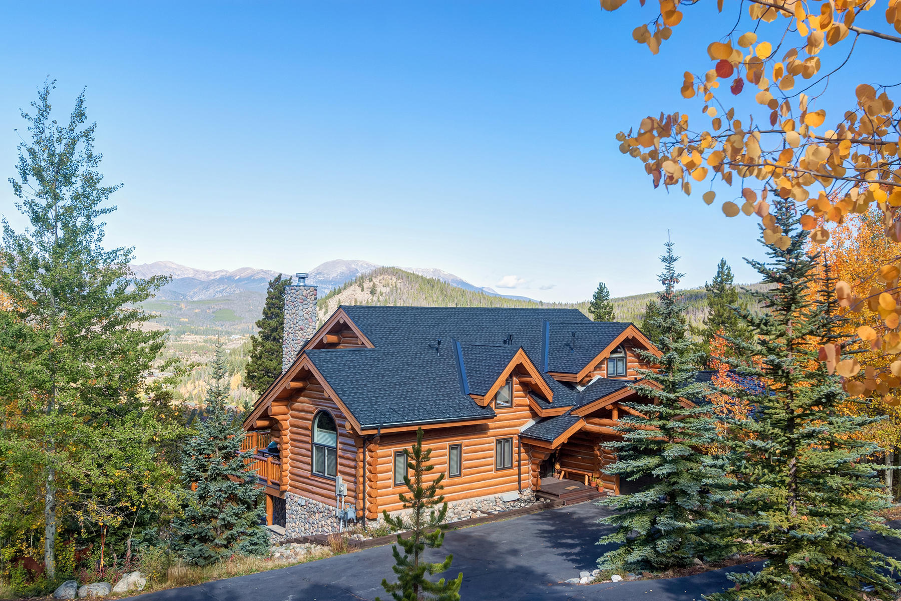 Single Family Home for Active at Summit Estates Log Home 1598 Estates Drive Breckenridge, Colorado 80424 United States