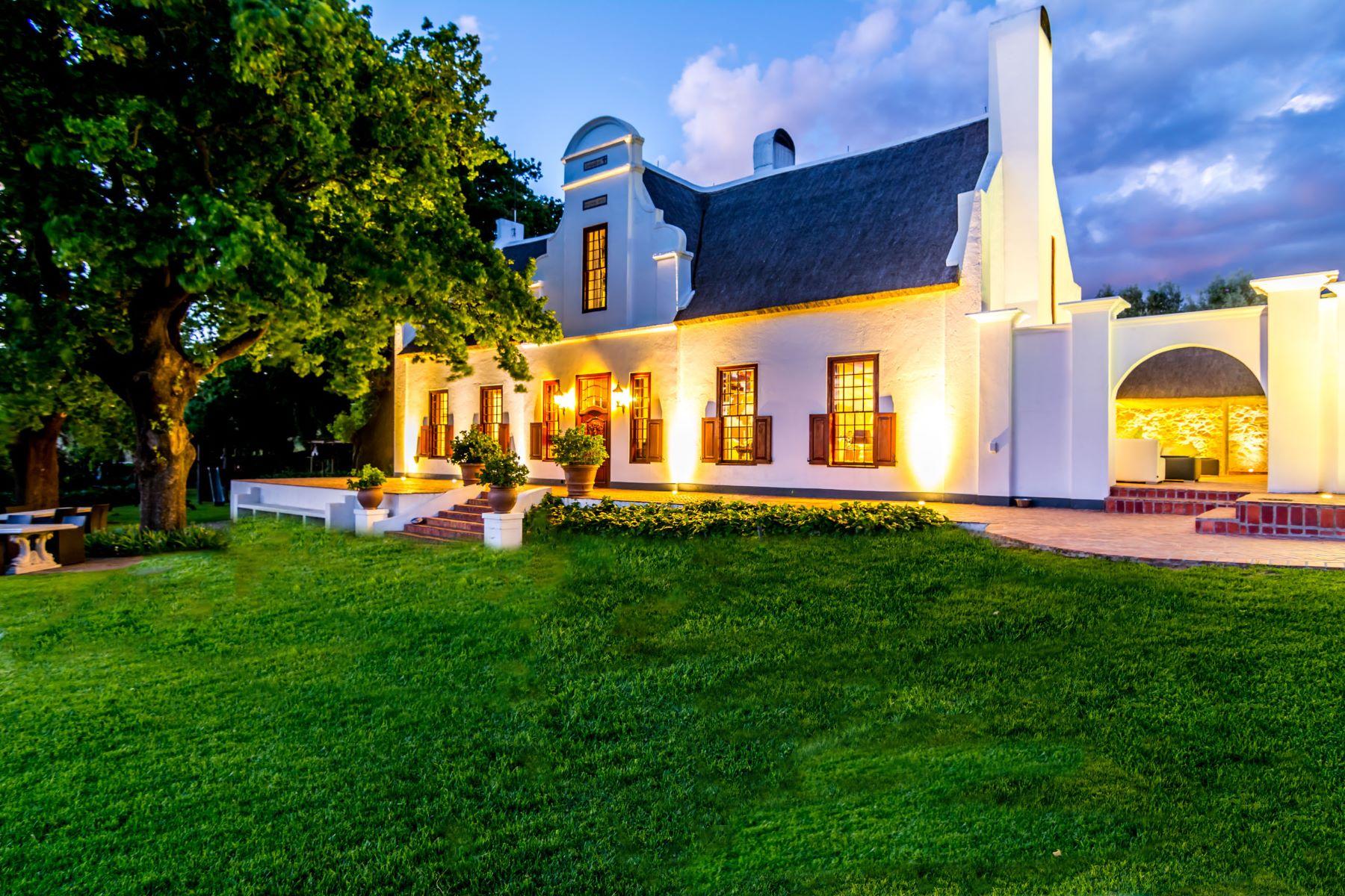 Granjas / Hacienda / Platanción por un Venta en Historic Cape Winelands Farm Paarl, Provincia Occidental Del Cabo 7646 Sudáfrica