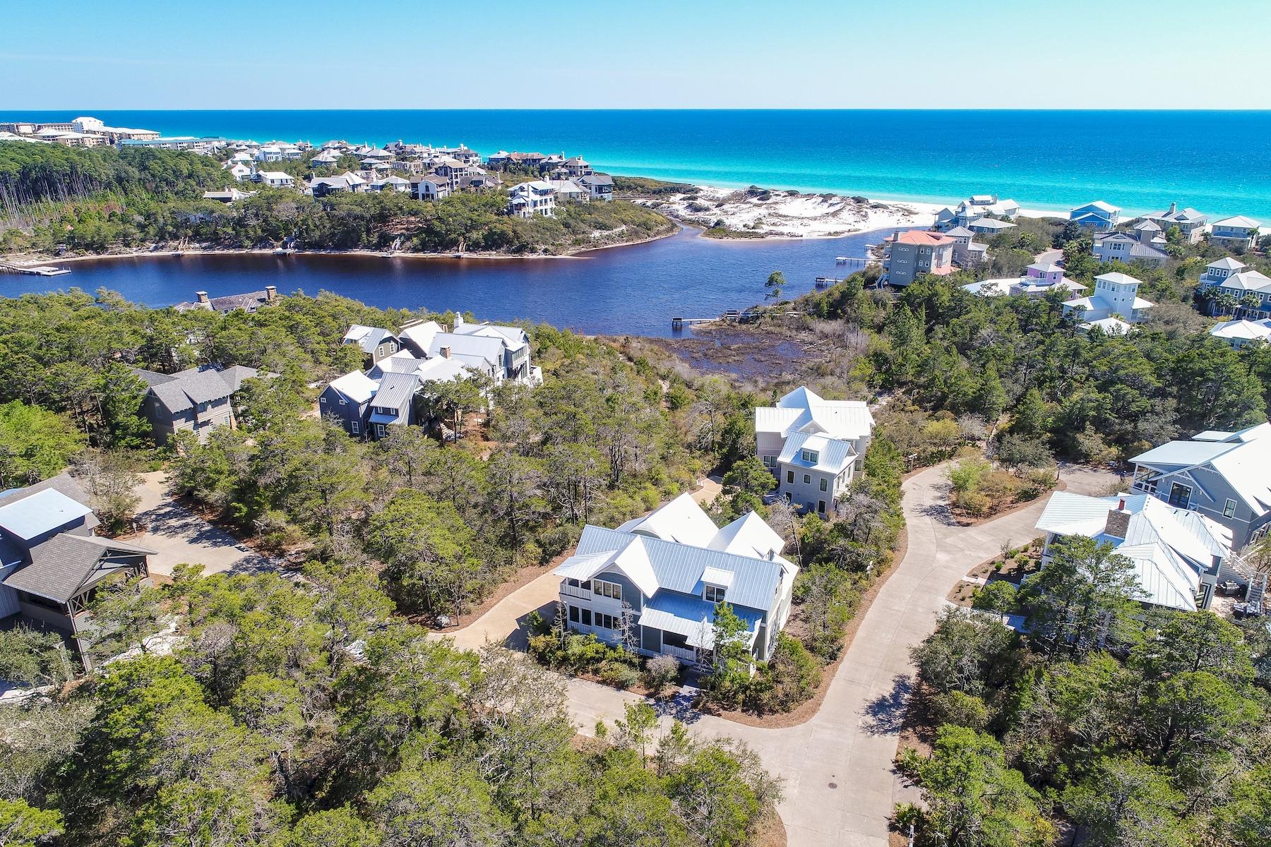 Частный односемейный дом для того Продажа на Impressive Coastal Industrial Design with Amazing Views 15 Lake Trail Lane, Santa Rosa Beach, Флорида, 32459 Соединенные Штаты