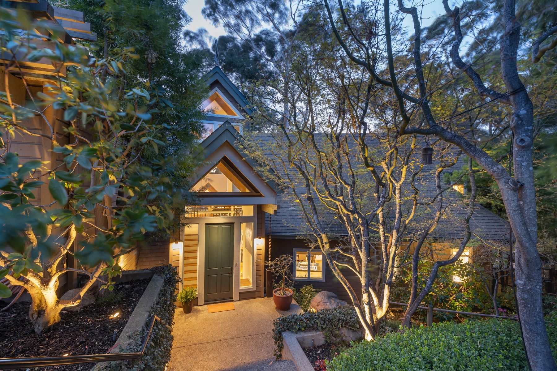 Single Family Homes for Sale at Custom Open-Timber Home in Gated Community 67 Marin Bay Park Court San Rafael, California 94901 United States