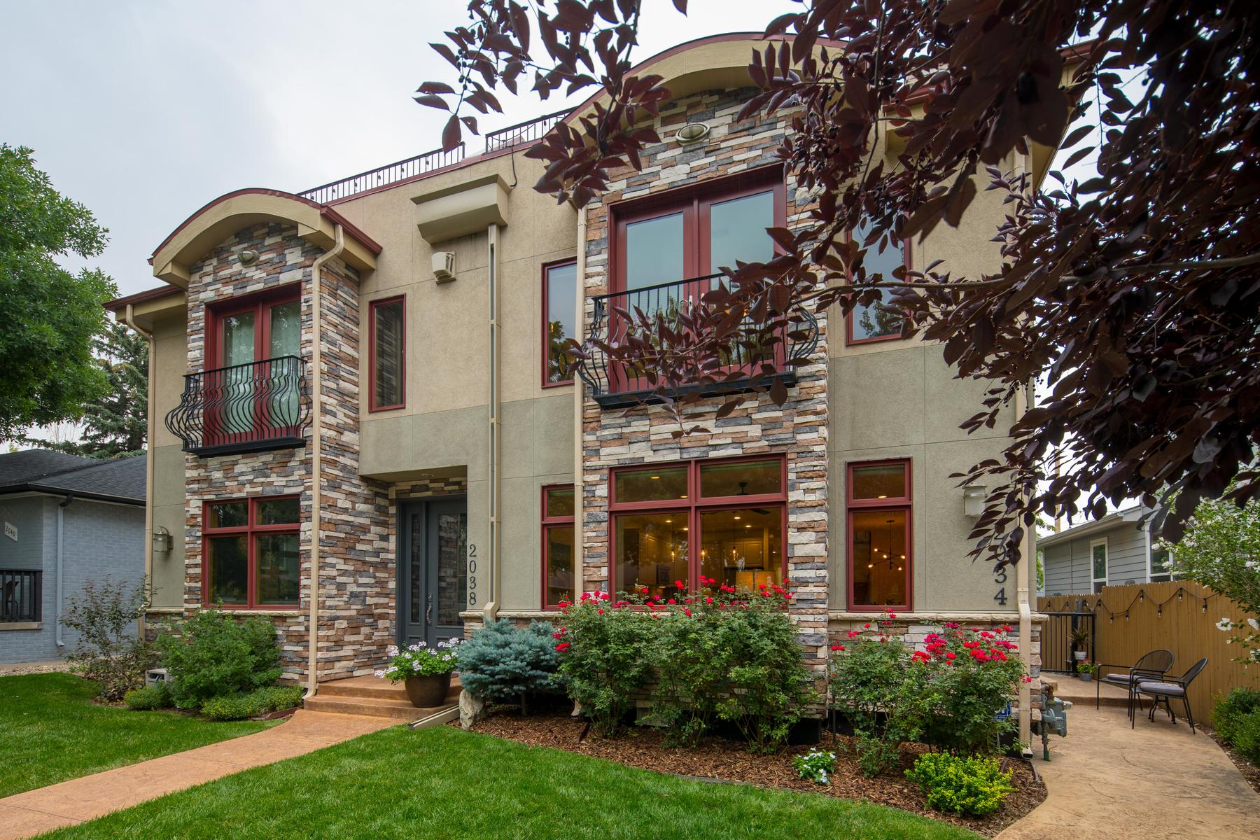 Townhouse for Active at Fabulous Open Layout With Views Of The City, Mountains, and Sloans Lake 2034 Newton St Denver, Colorado 80211 United States