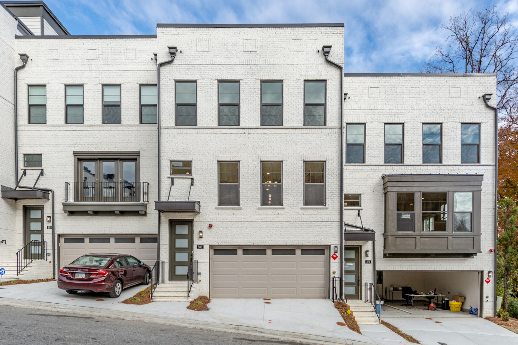 Townhouse for Rent at Beautiful Three Story Modern New Construction Townhome 883 Stone Crest Road Atlanta, Georgia 30324 United States