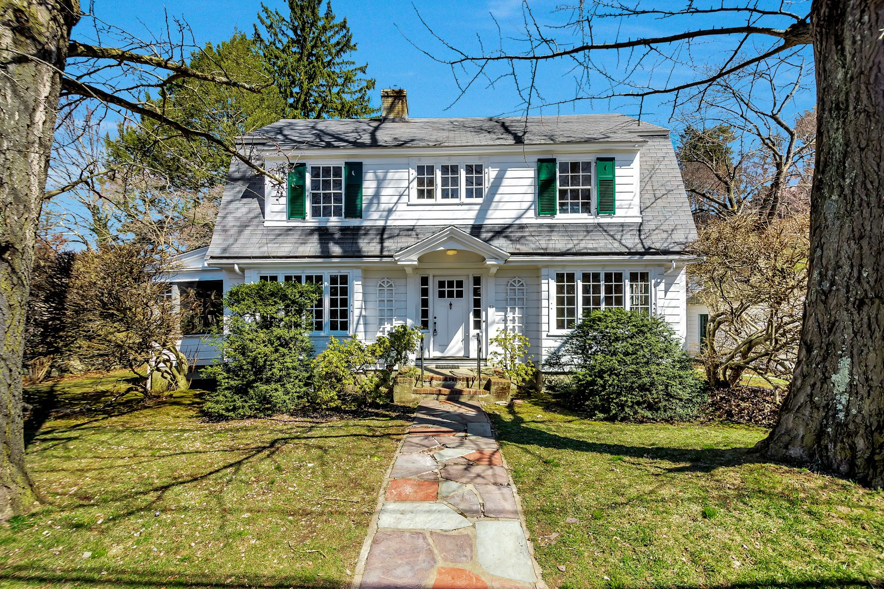 Single Family Home for Active at Timeless Center-Entrance Colonial in Symmes Neighborhood 12 Everell Road Winchester, Massachusetts 01890 United States