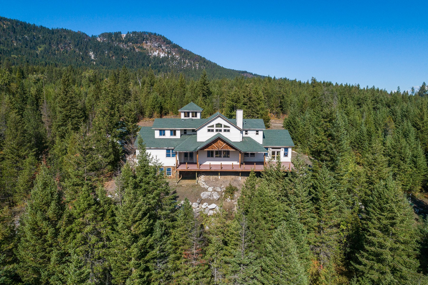 Single Family Homes for Sale at Partial Finished Custom Home On 20+ Acres 990 Panhandle Estates Drive Cocolalla, Idaho 83813 United States