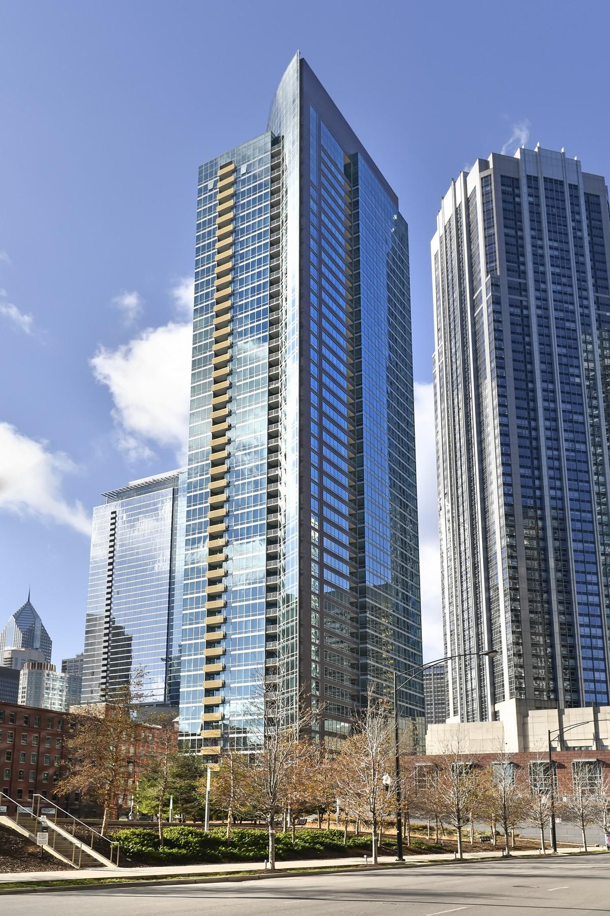 Vivienda unifamiliar por un Venta en Fabulous Unit With Great Views 505 N Mcclurg Court Unit 1204 Chicago, Illinois, 60611 Estados Unidos