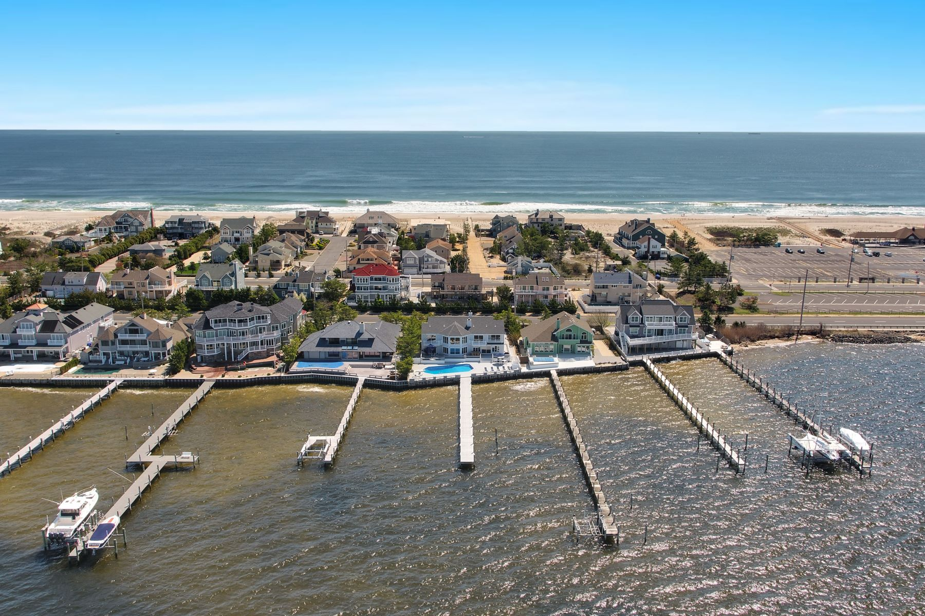 Single Family Home for Sale at Prime Bayfront location in Osprey Dunes 385 S Highway 35, Brick, New Jersey 08738 United States