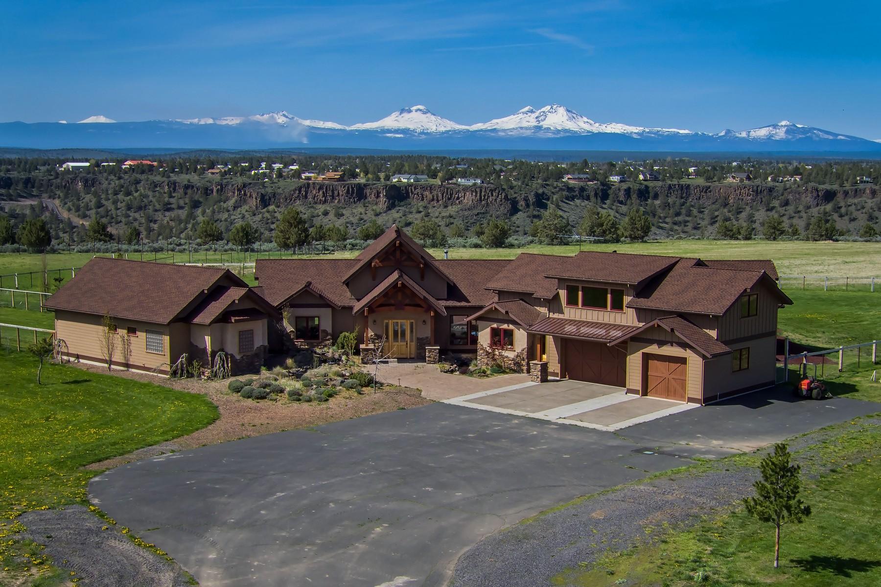 Single Family Homes pour l Vente à Organic Farm with Custom Home 6319-6029 SW Keeney Lane, Culver, Oregon 97734 États-Unis