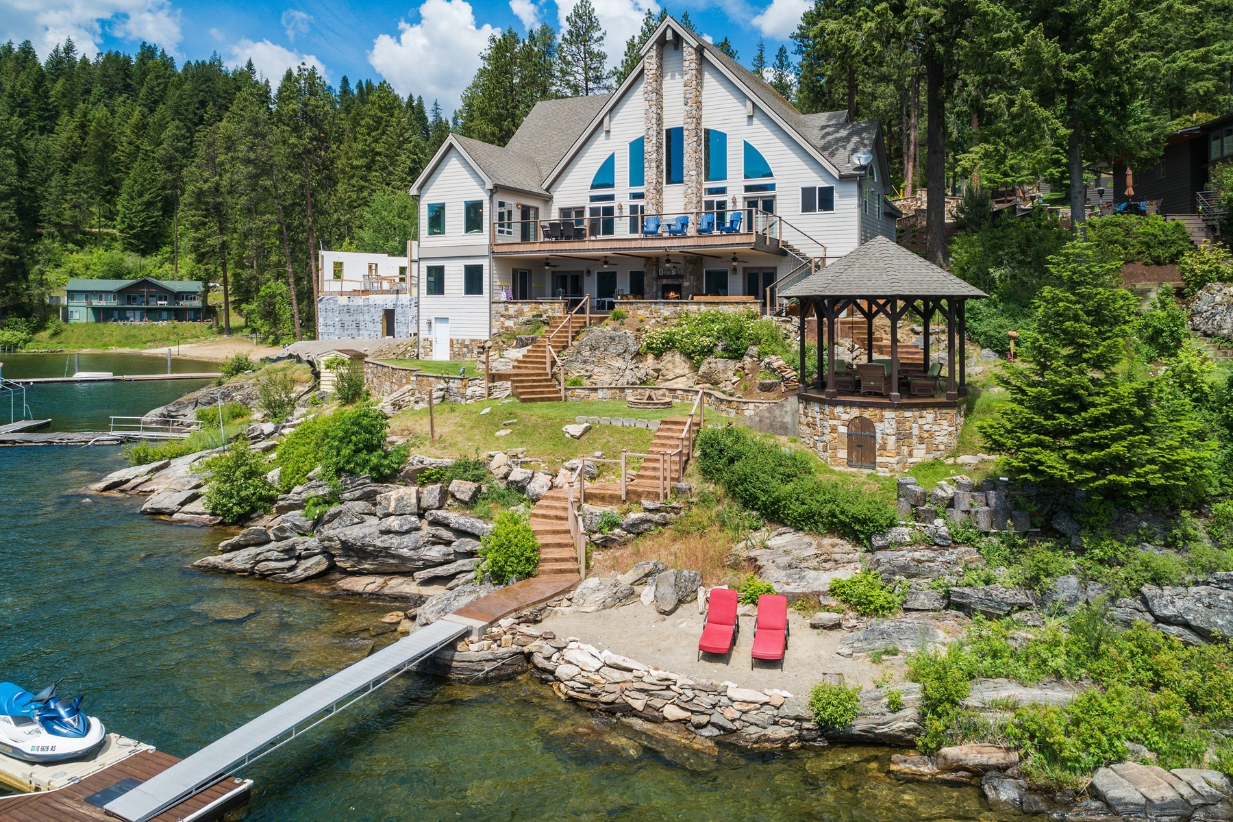 Single Family Homes للـ Sale في Mica Bay Extraordinary Waterfront 5128 W Mica Shore Rd, Coeur D Alene, Idaho 83814 United States