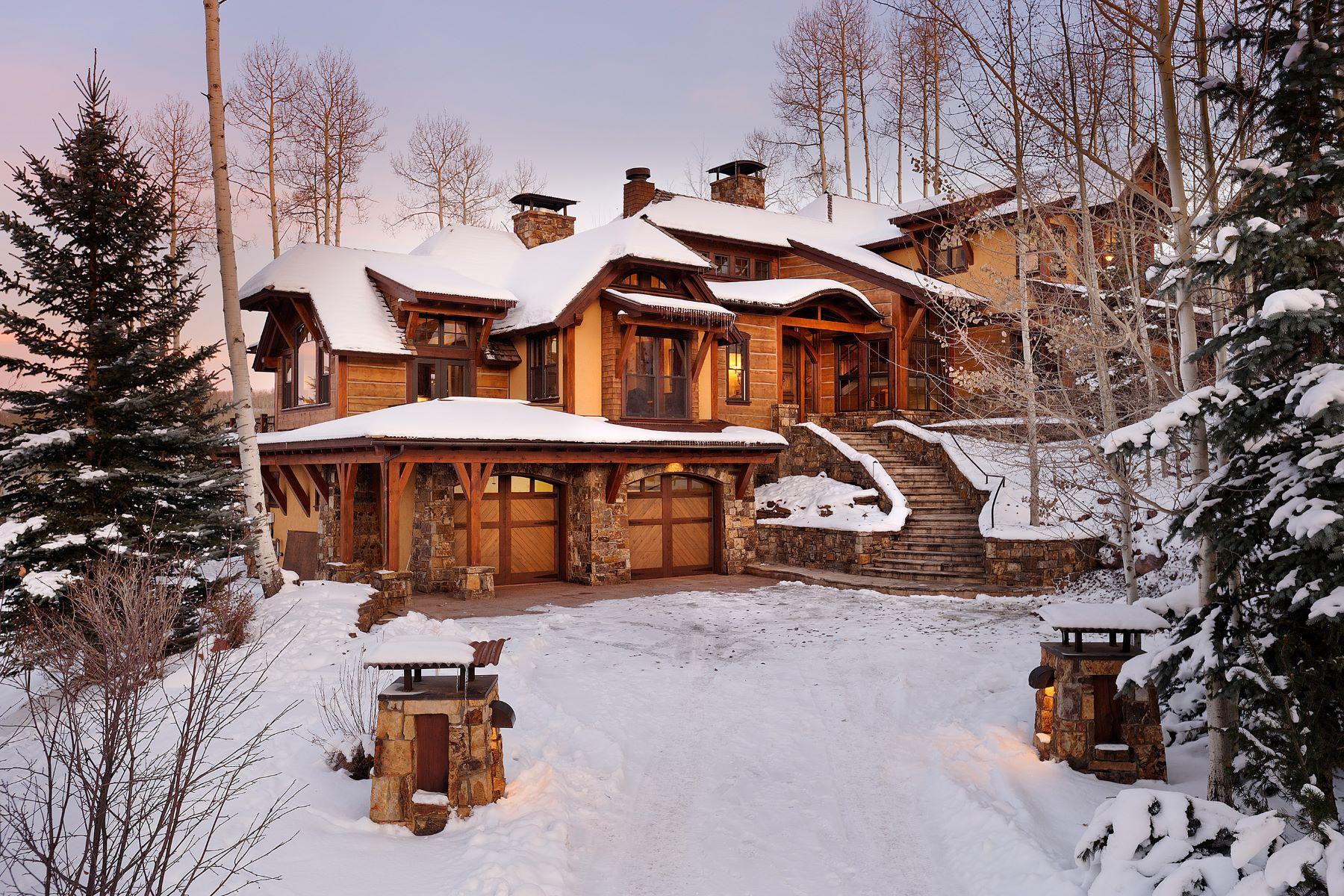 Single Family Homes por un Venta en Everything at Your Ski Tips 1000 Two Creeks Drive, Snowmass Village, Colorado 81615 Estados Unidos