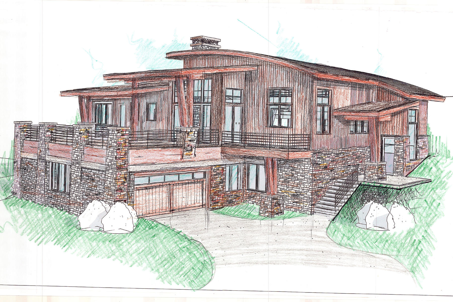 獨棟家庭住宅 為 出售 在 Stunning New Construction With Views 3516 E Westview Trl, Park City, 猶他州, 84098 美國