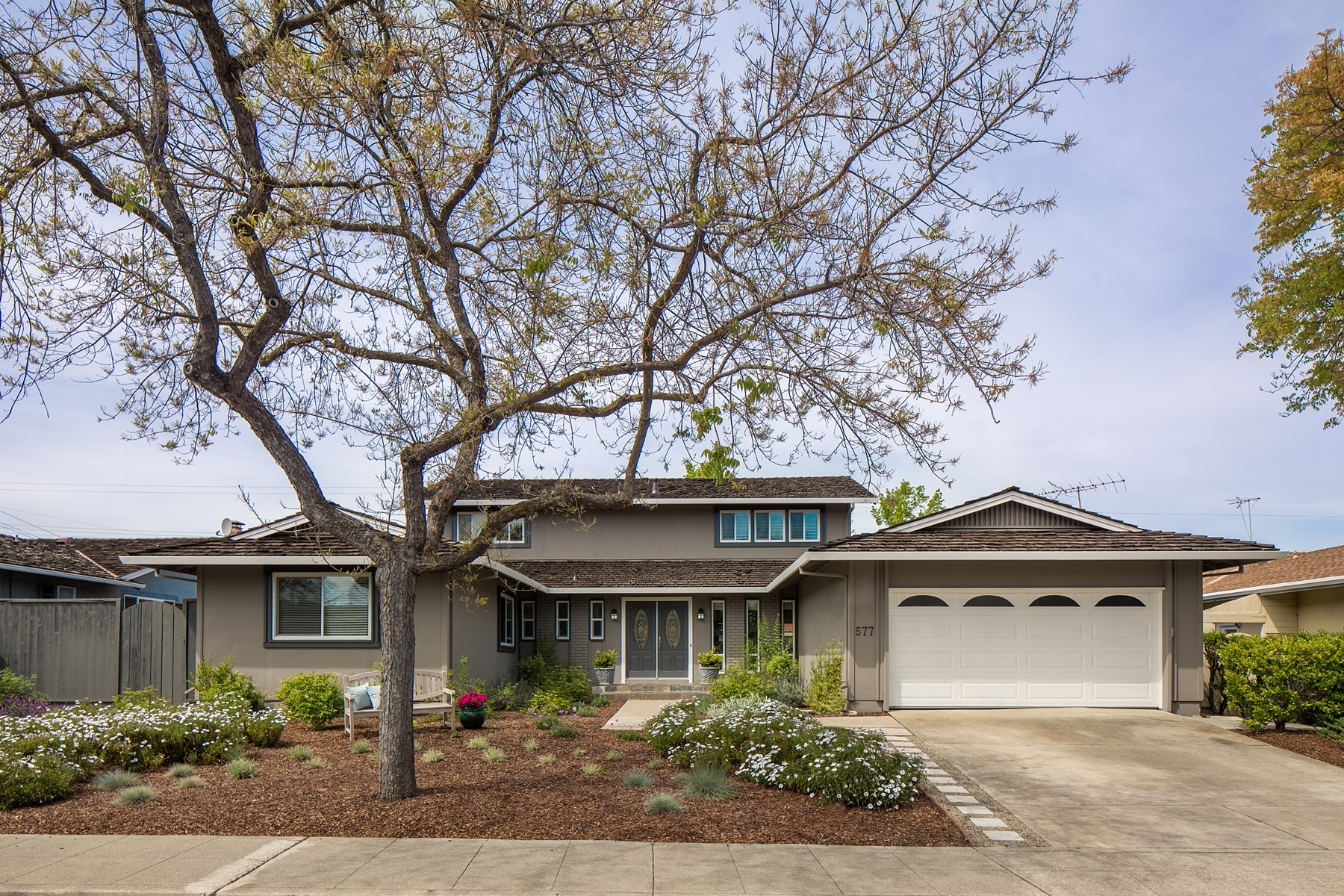 Single Family Home for Sale at Freshly Remodeled Craftsman Home 577 Endicott Drive Sunnyvale, California 94087 United States