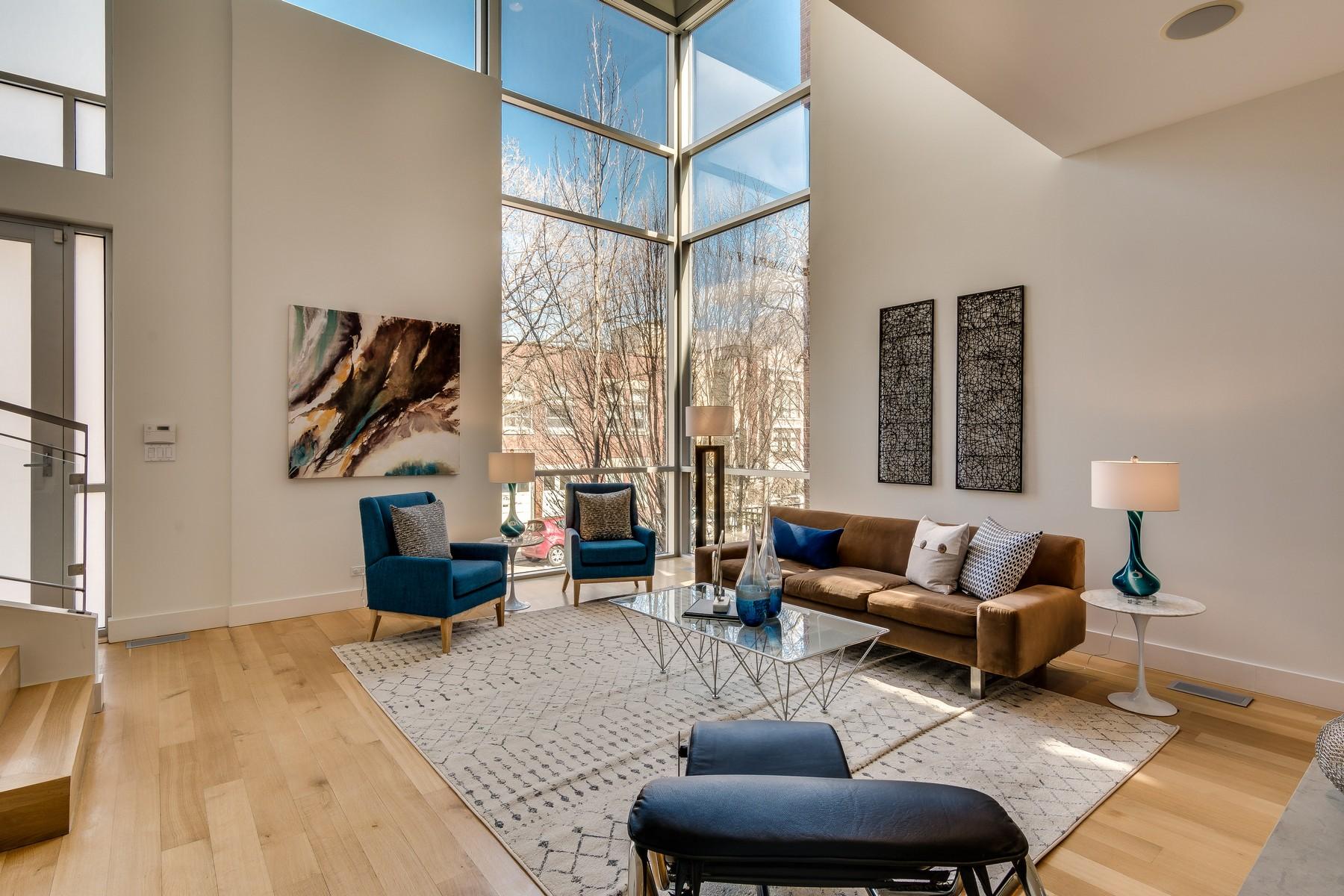 Частный односемейный дом для того Продажа на Jaw-Dropping Custom Built Home 1823 W Race Avenue, West Town, Chicago, Иллинойс, 60622 Соединенные Штаты