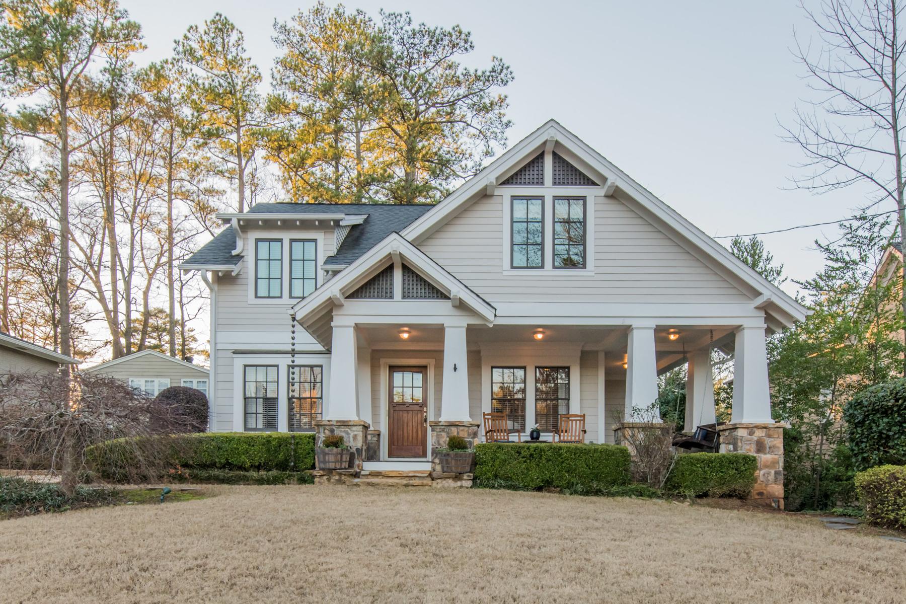 Single Family Home for Sale at Charming North Buckhead Craftsman 4002 North Ivy Rd Atlanta, Georgia 30342 United States