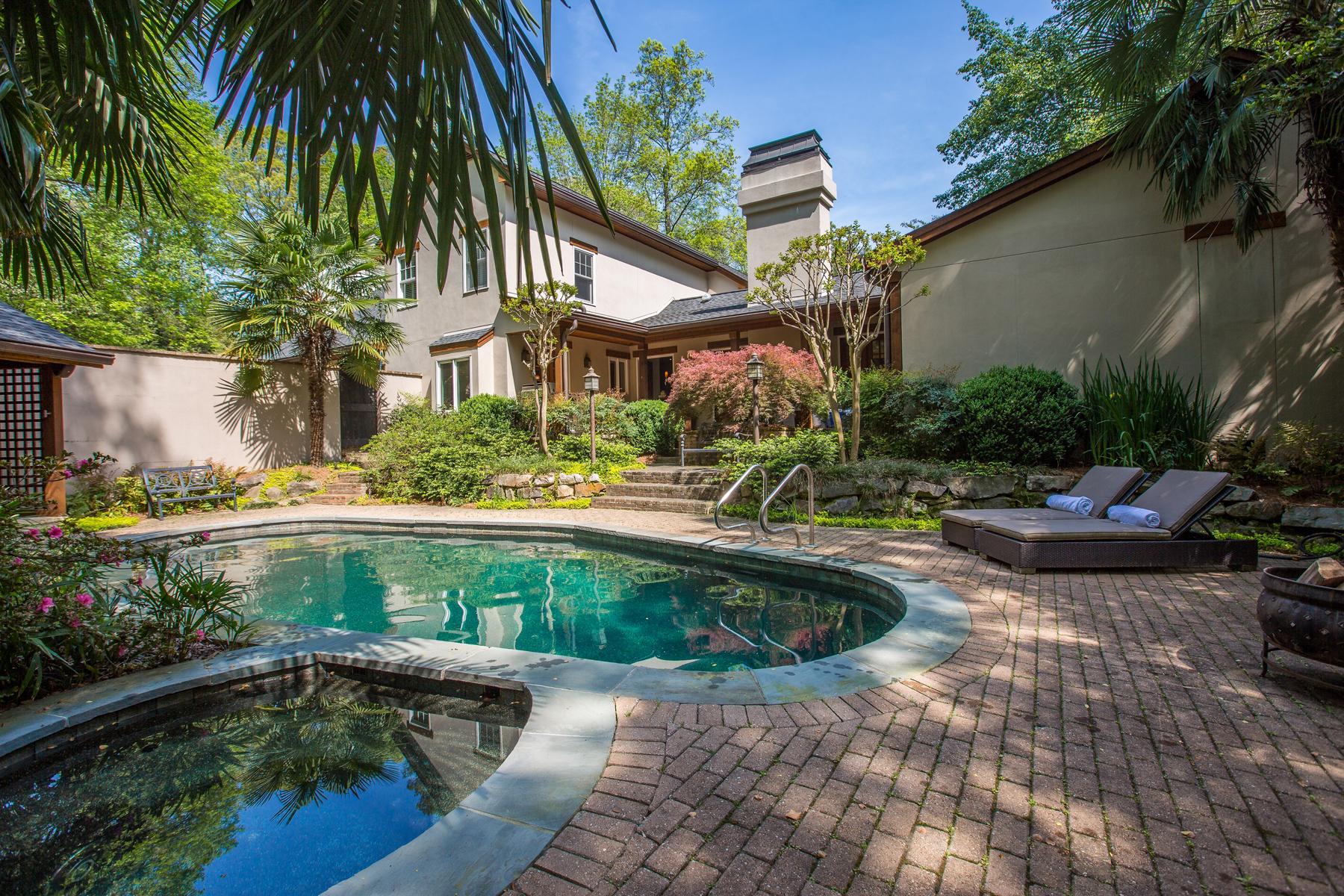 一戸建て のために 売買 アット Gorgeous Island-Inspired Home 4 Arden Moor NW Buckhead, Atlanta, ジョージア, 30305 アメリカ合衆国
