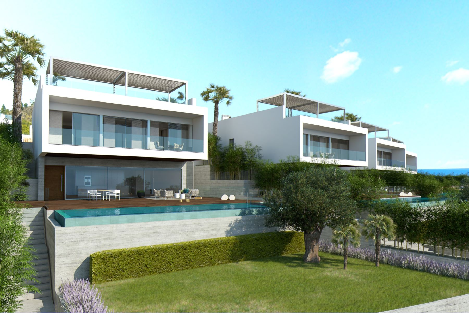 Casa Unifamiliar por un Venta en Newly built luxury villas with sea views, Alcanada Alcudia, Mallorca, 07400 España