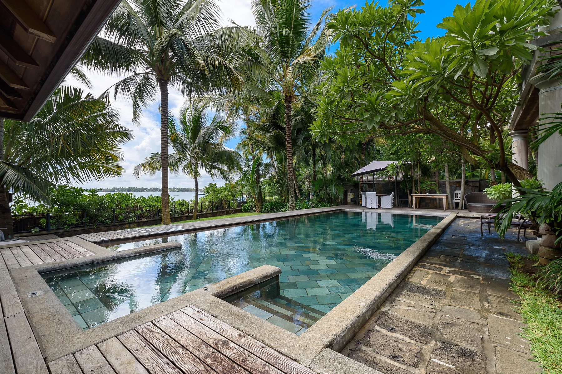 """Additional photo for property listing at Waterfront Colonial Villa overlooking """"Coin de Mire"""" Grand Baie, Riviere Du Rempart Mauritius"""